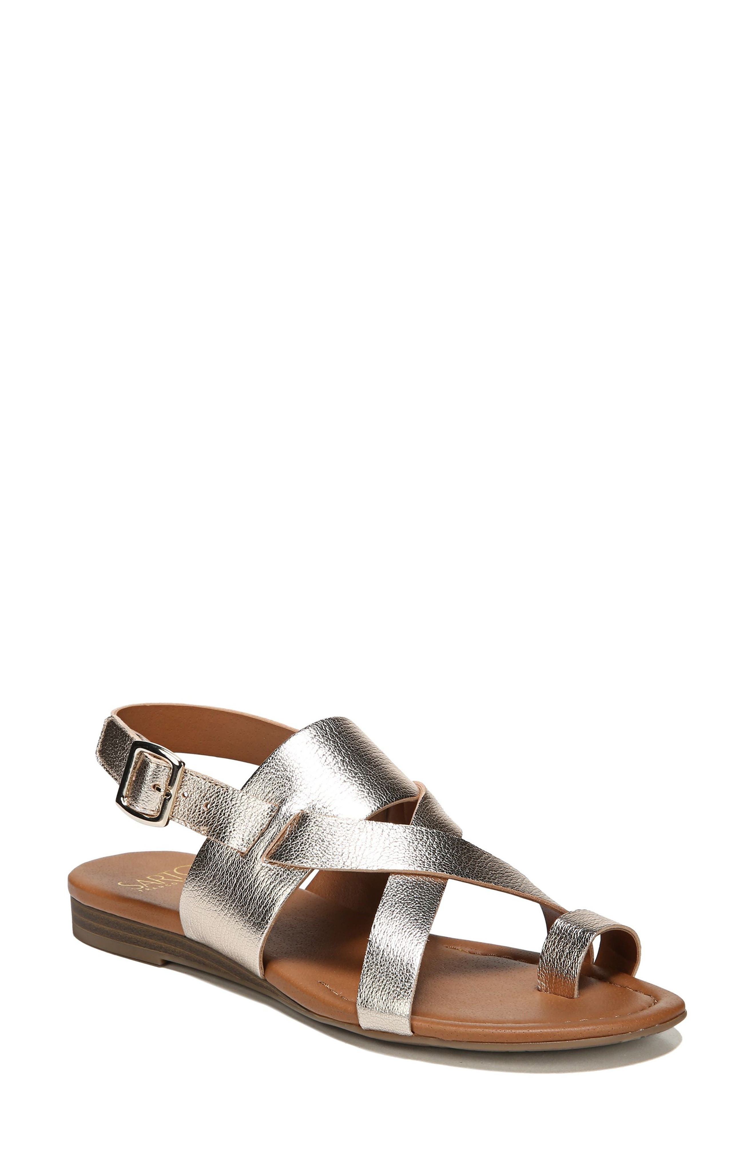 Gia Sandal,                         Main,                         color, Platinum Gold Leather