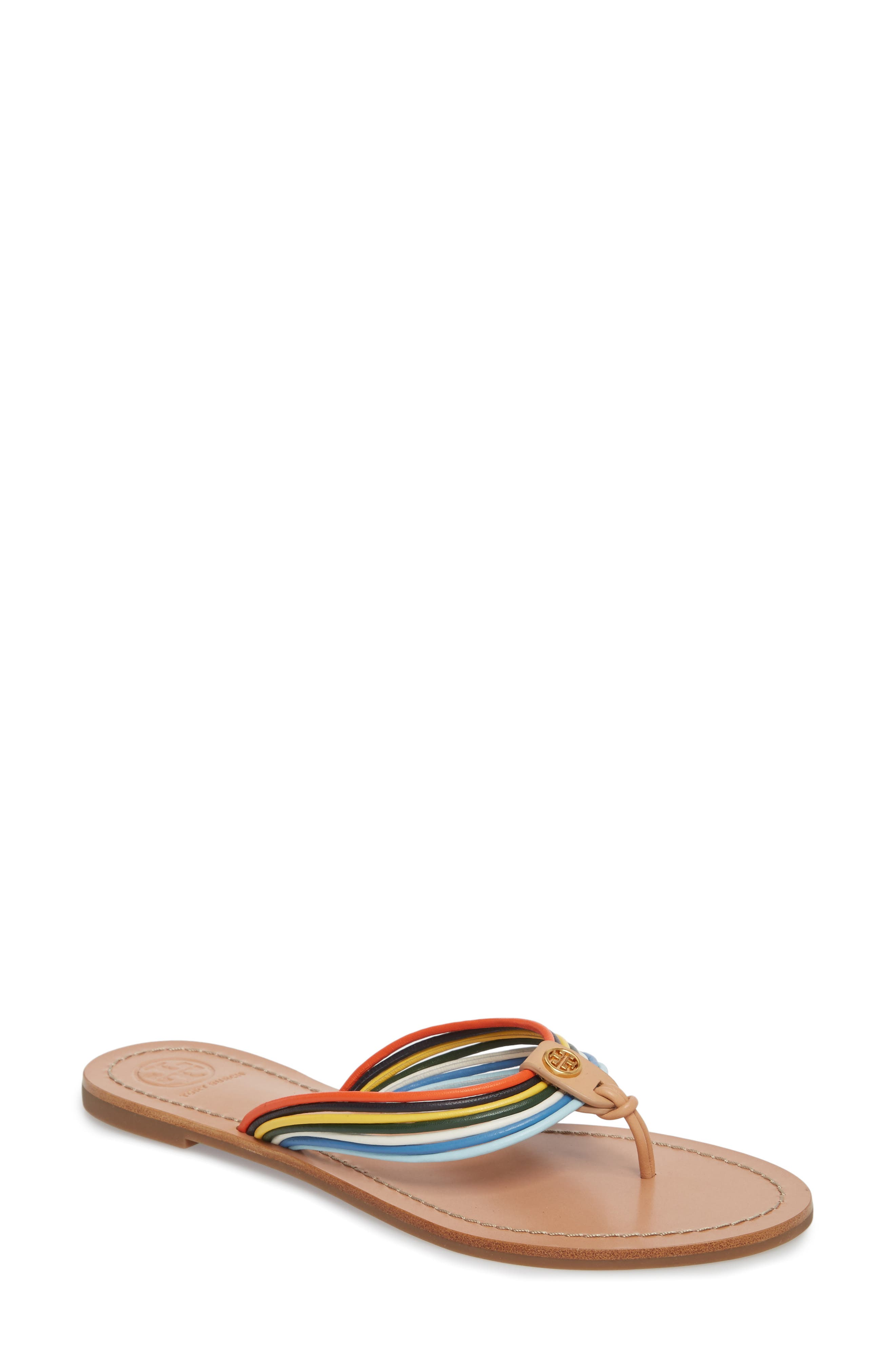 Tory Burch Sienna Strappy Thong Sandal (Women)