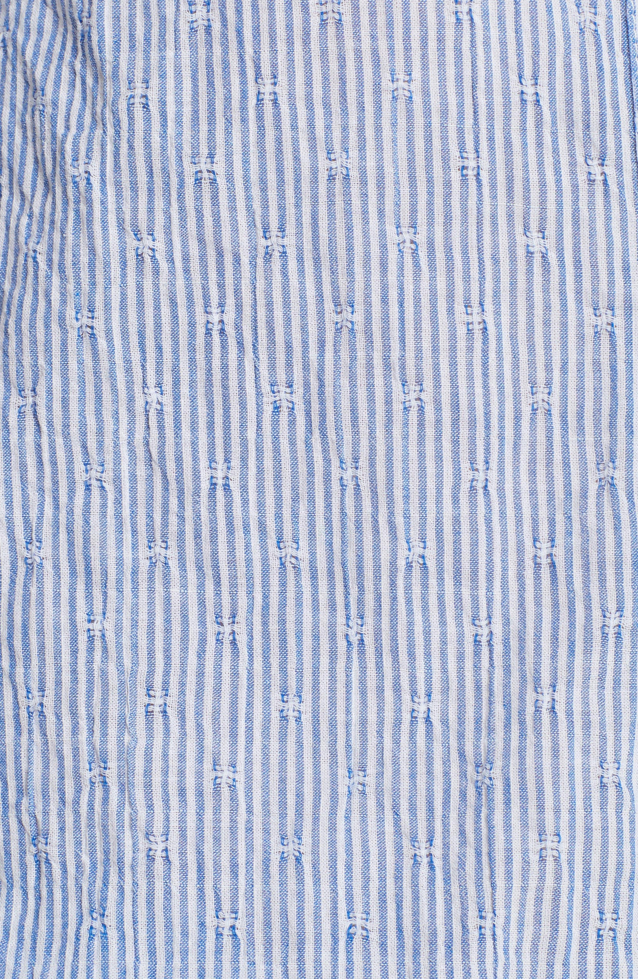 No Limits Stripe Stretch Cotton Shirt,                             Alternate thumbnail 5, color,                             Blue