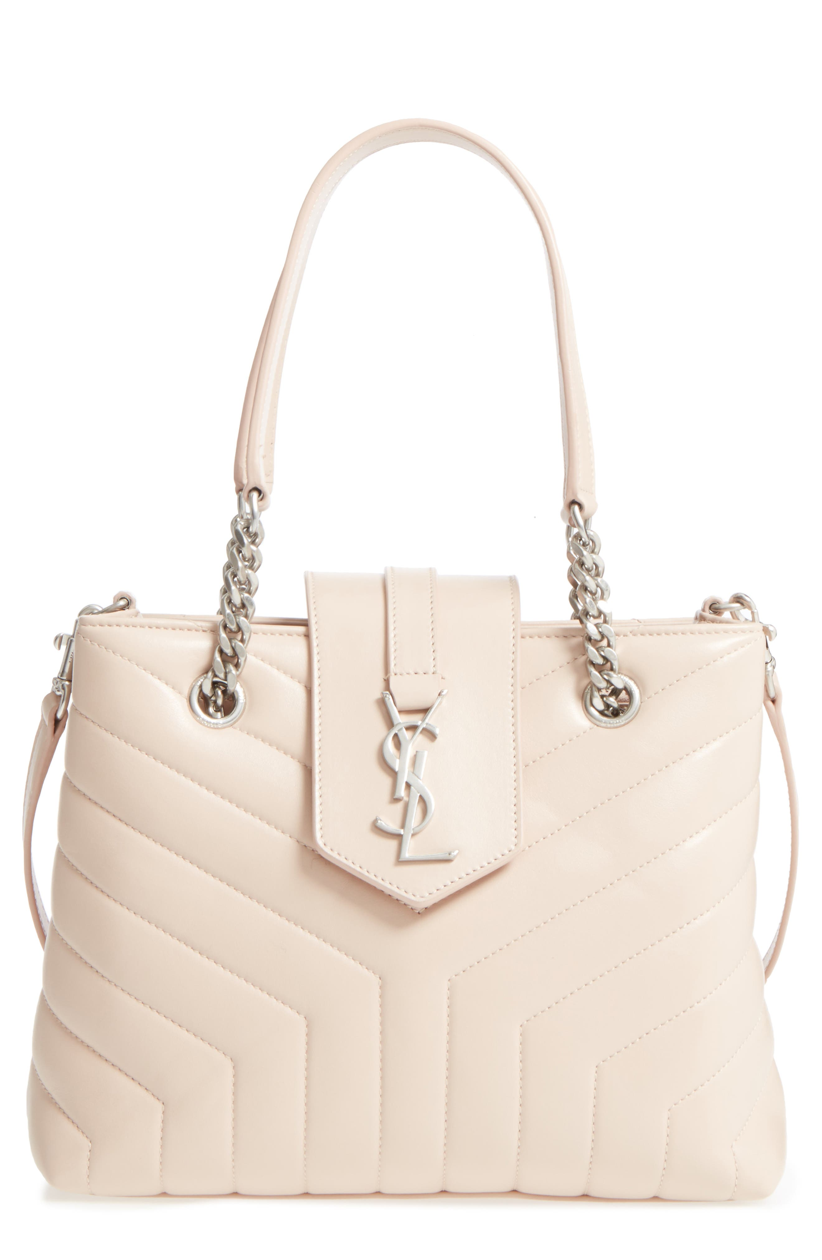 Main Image - Saint Laurent Small Loulou Matelassé Leather Shopper