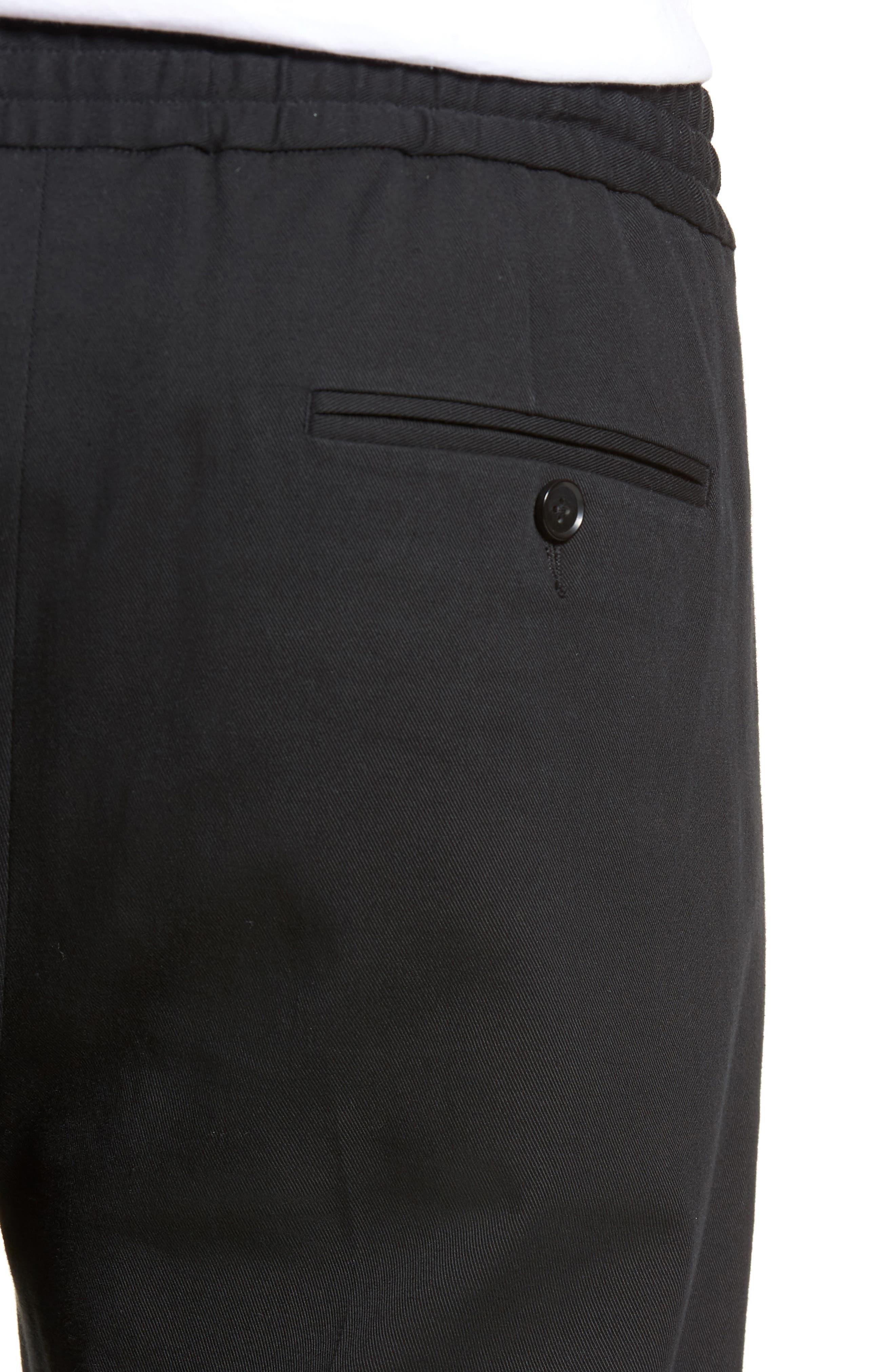 Regular Fit Track Pants,                             Alternate thumbnail 4, color,                             Black