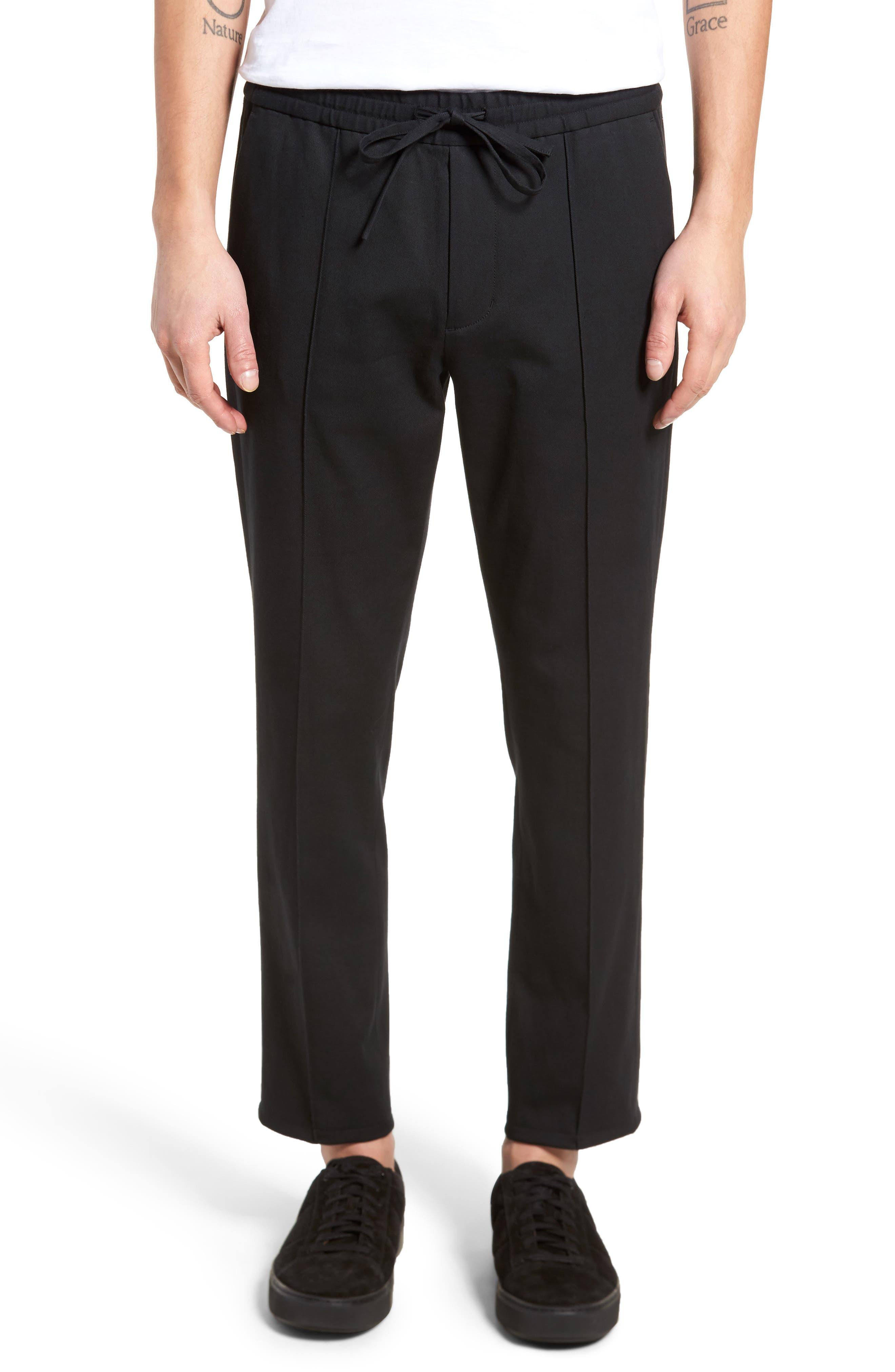 Regular Fit Track Pants,                             Main thumbnail 1, color,                             Black