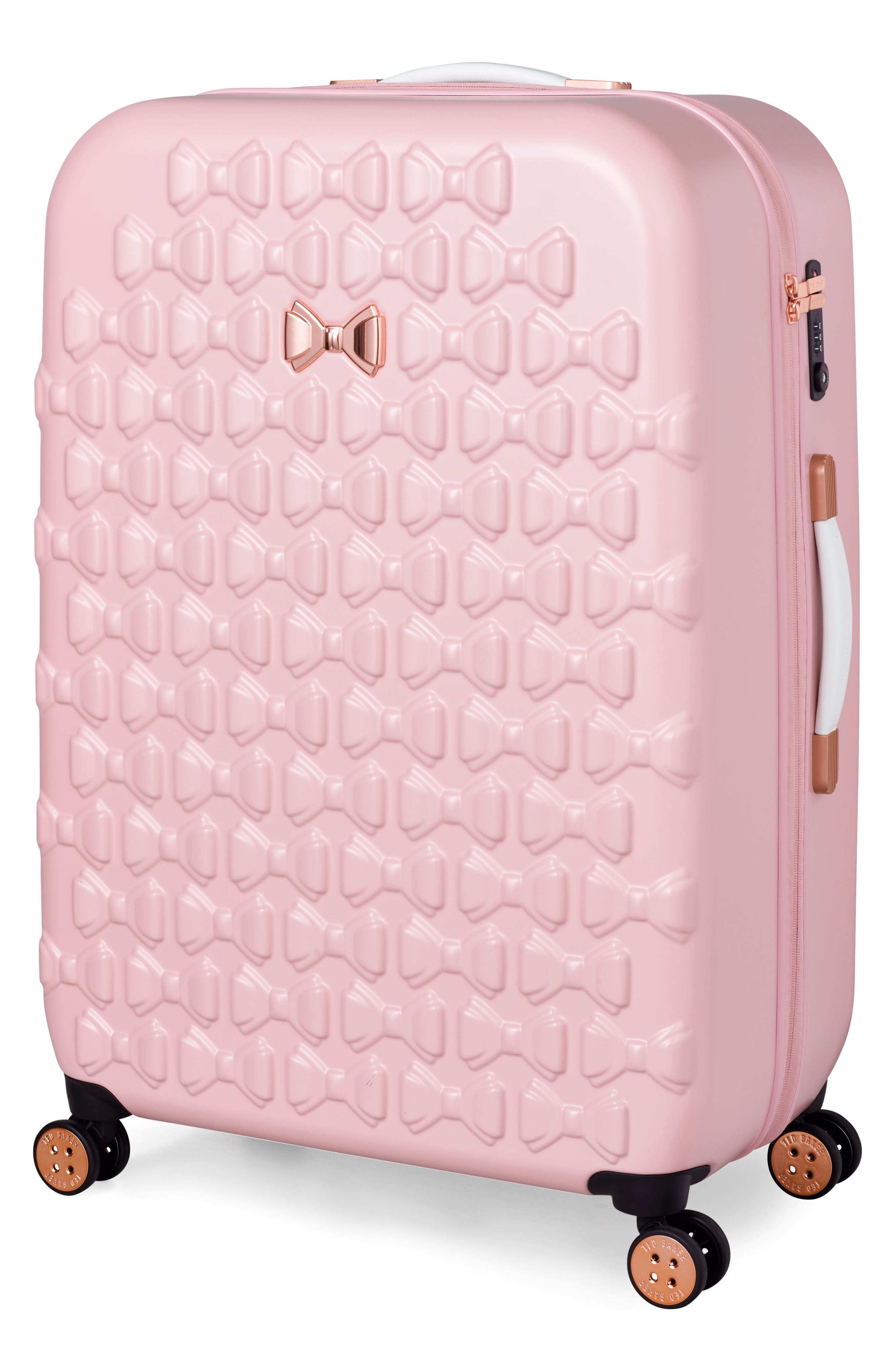 Alternate Image 3  - Ted Baker London Large Beau Bow Embossed Four-Wheel 31-Inch Trolley Suitcase