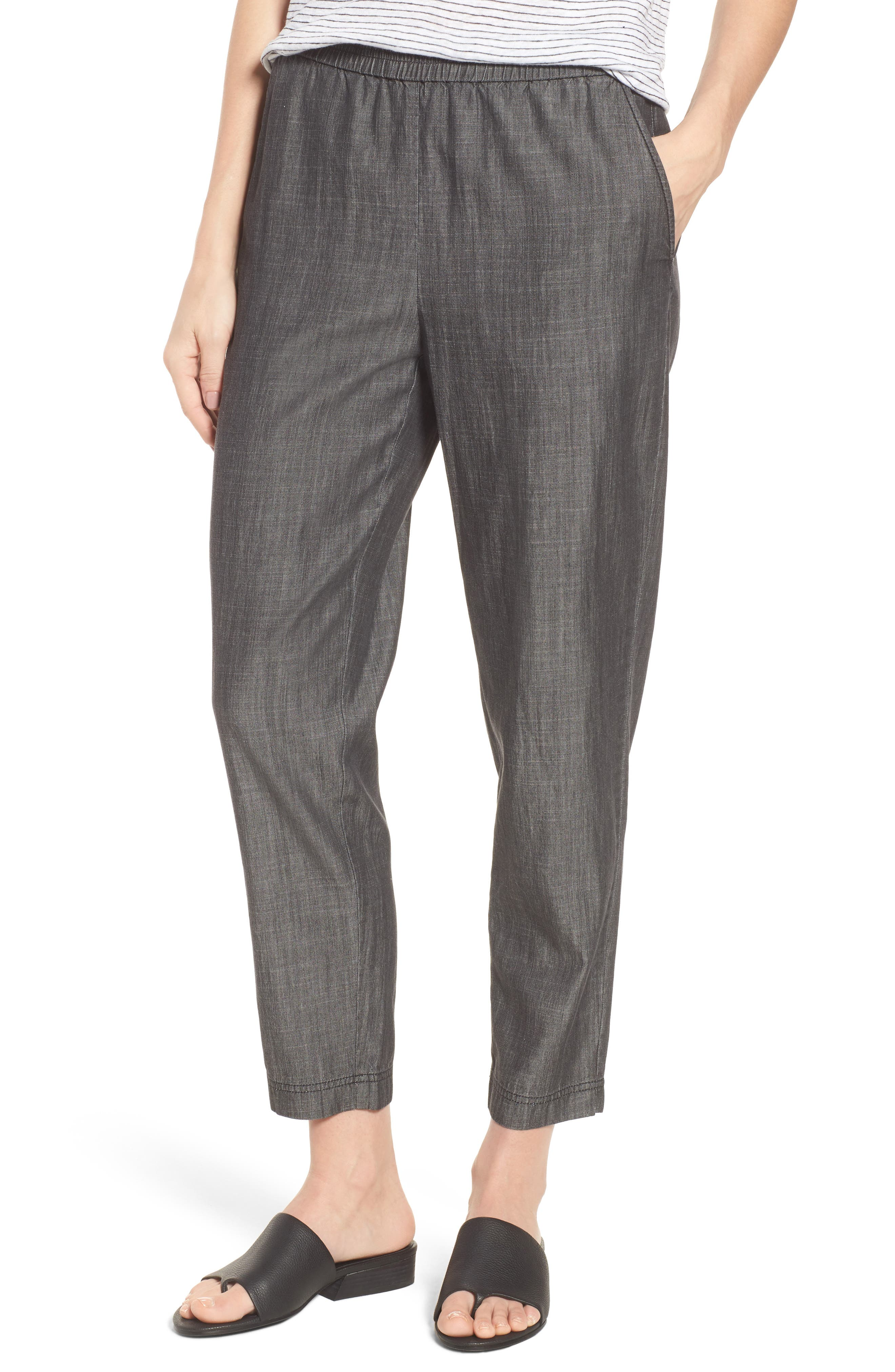 Eileen Fisher Tapered Tencel® Blend Ankle Pants