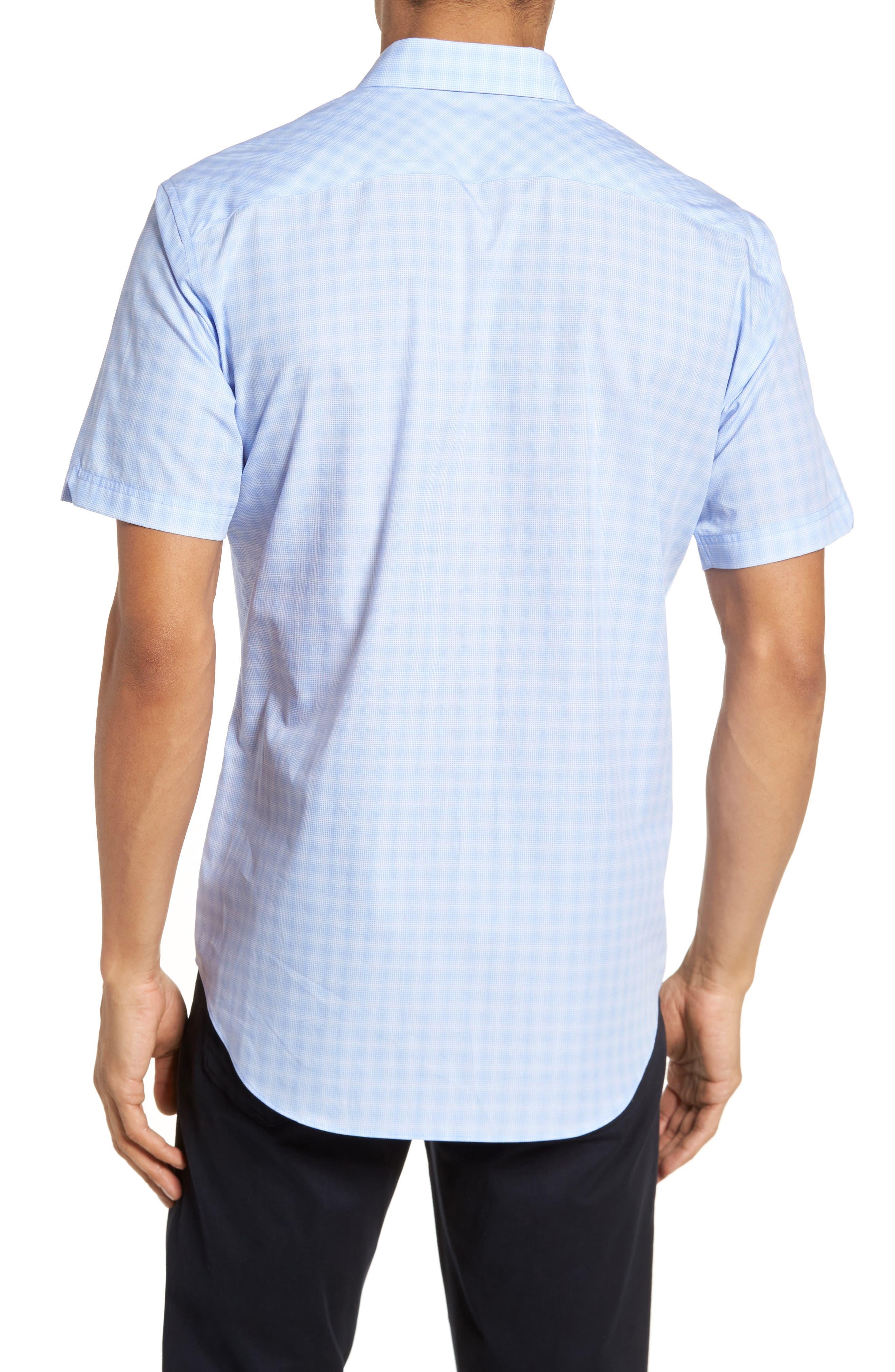 Cecil Check Print Sport Shirt,                             Alternate thumbnail 2, color,                             Lt Blue
