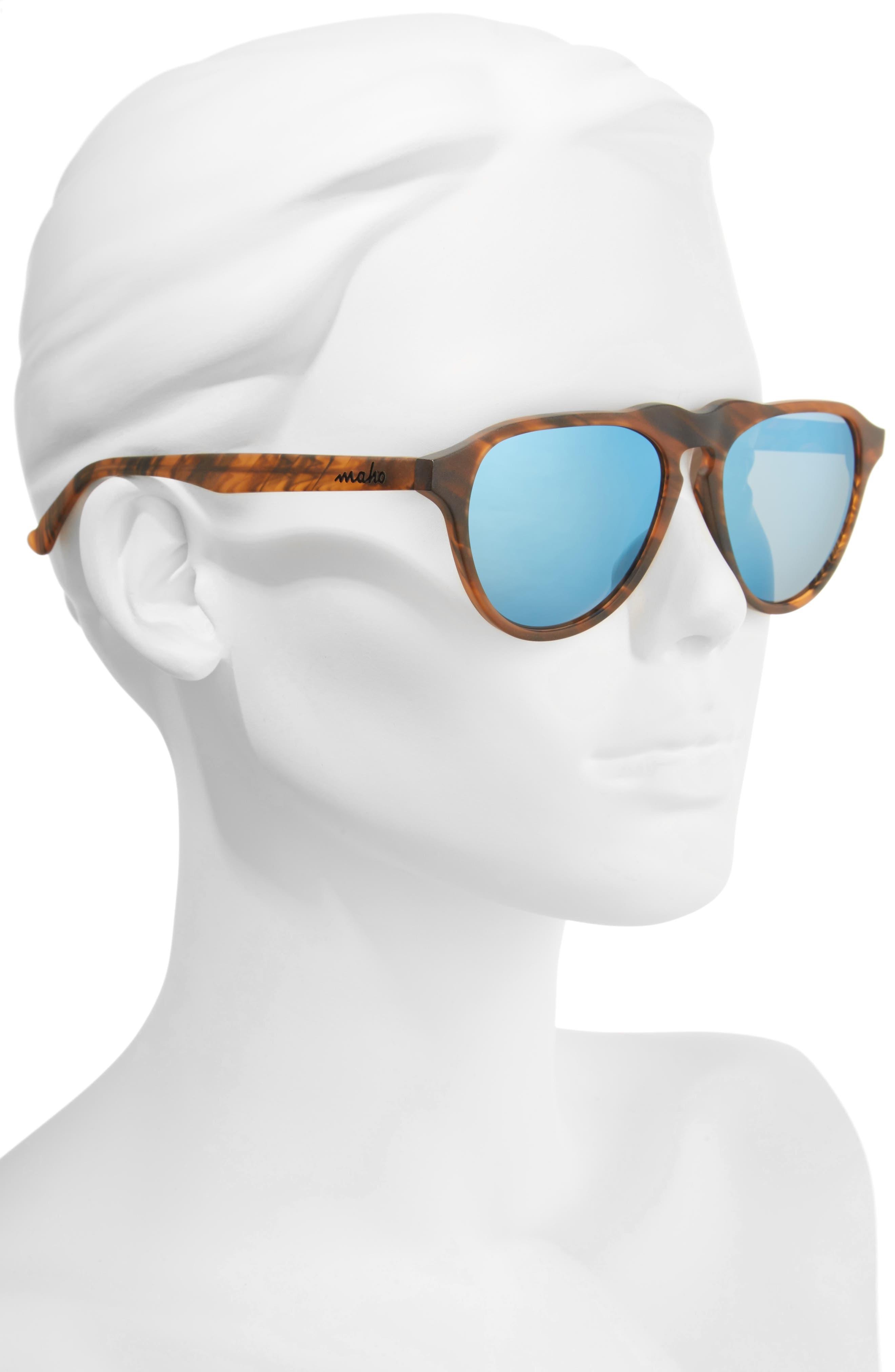 Alternate Image 2  - Maho Nashville 54mm Polarized Aviator Sunglasses