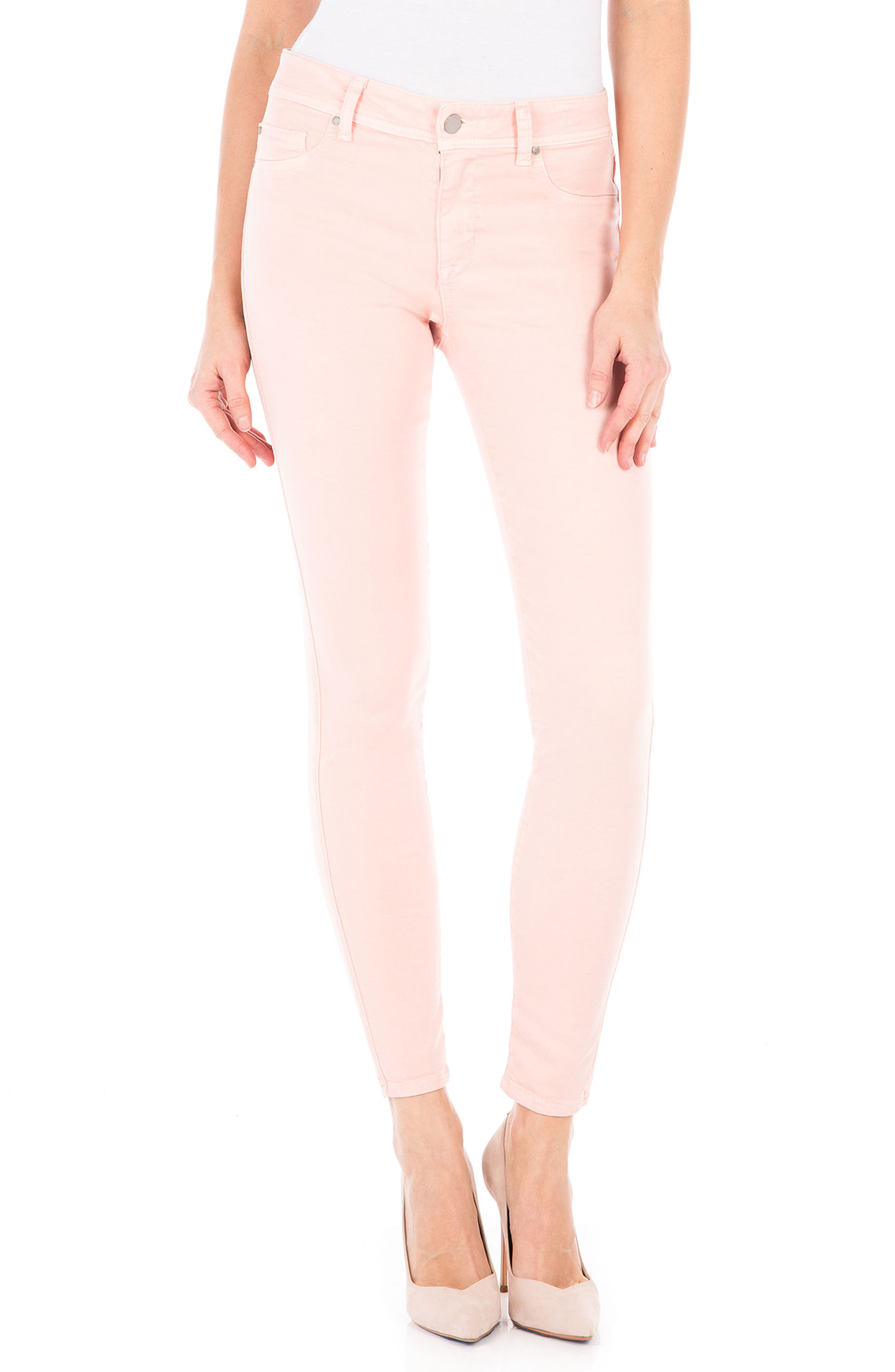Alternate Image 1 Selected - Fidelity Denim Sola Skinny Jeans (Dusty Rose)