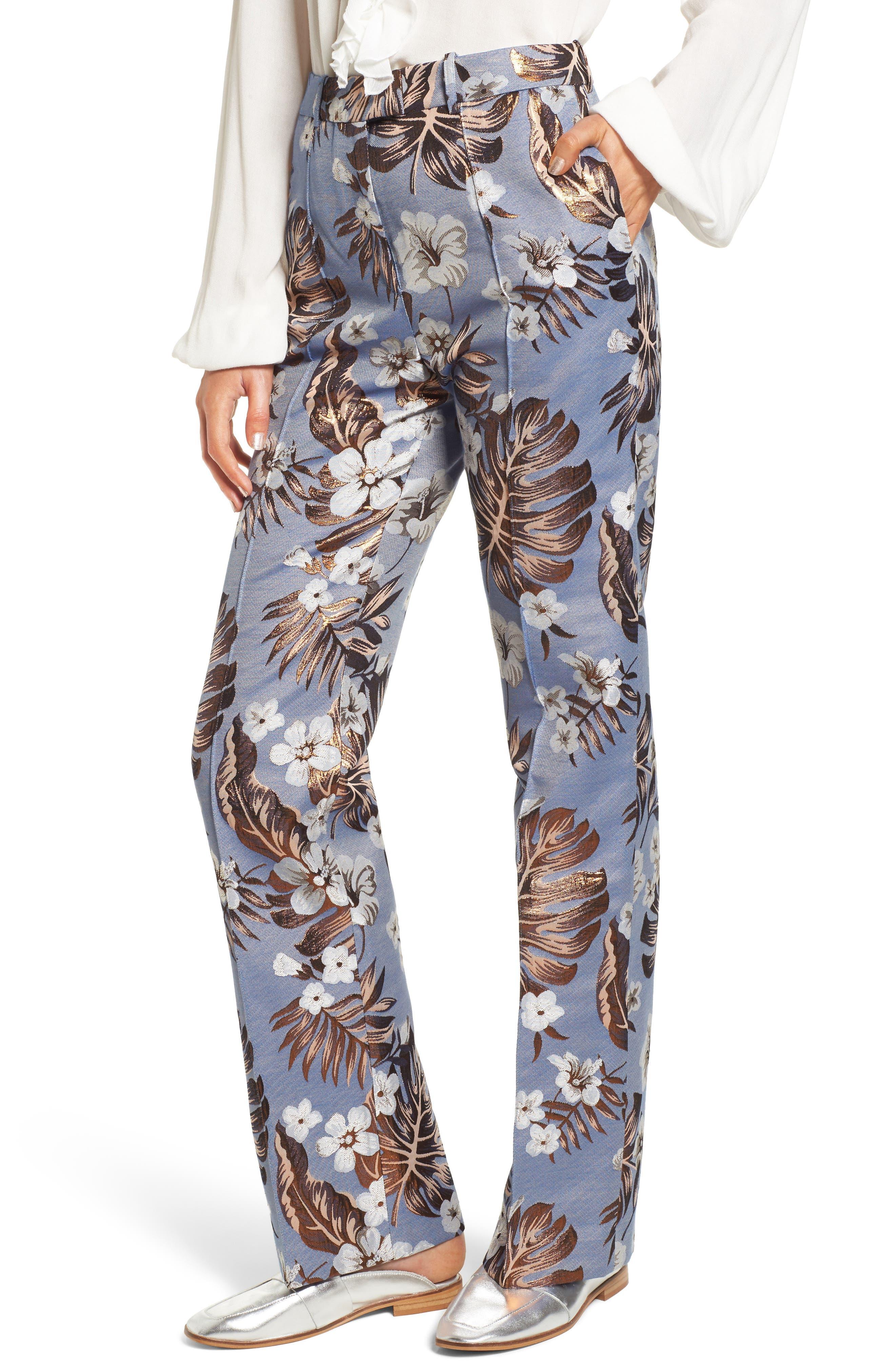 Picasso High Waist Pants,                         Main,                         color, Denim