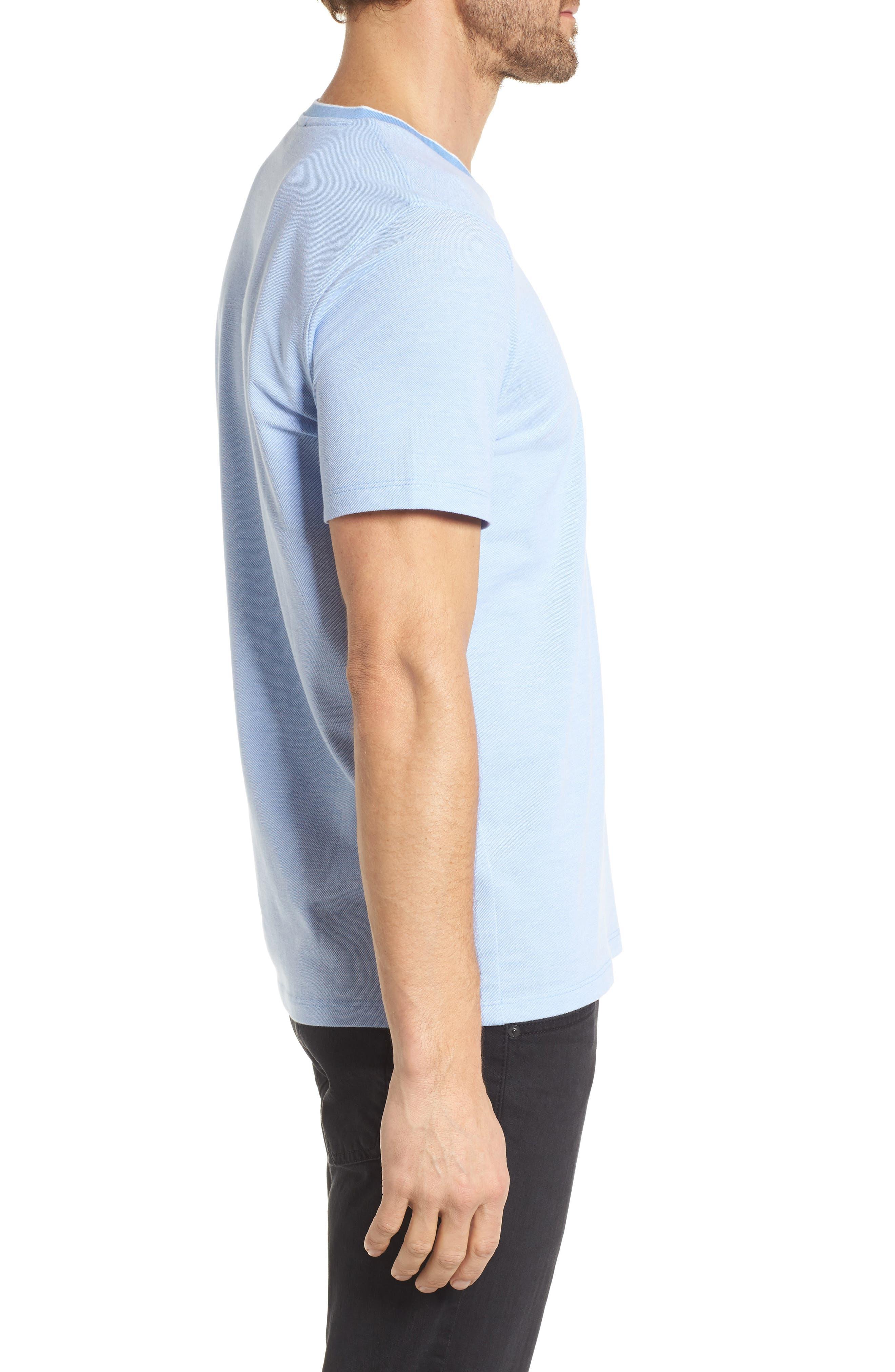 Tilson Slim Fit V-Neck T-Shirt,                             Alternate thumbnail 3, color,                             Blue