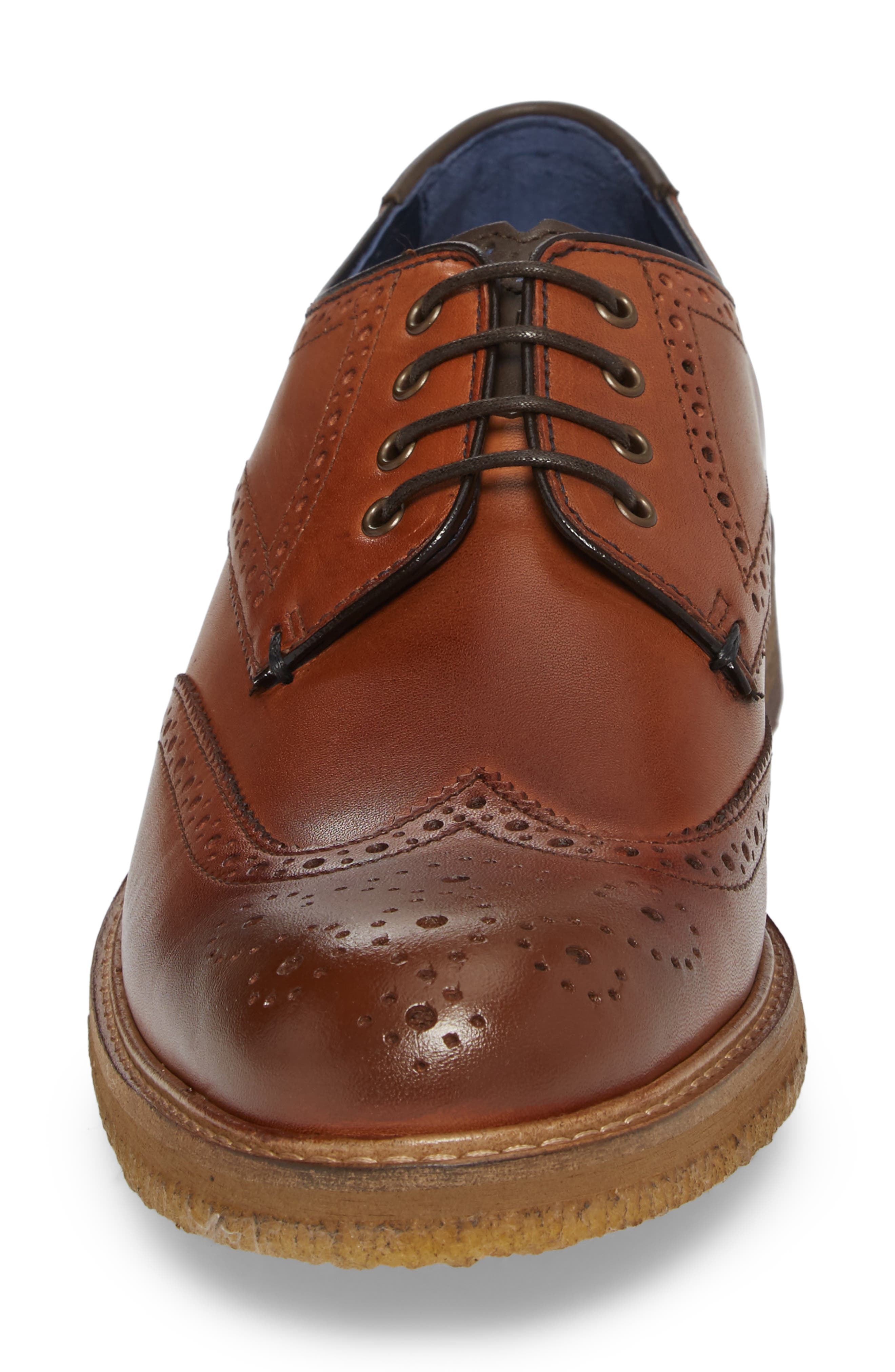 Prycce Wingtip Derby,                             Alternate thumbnail 4, color,                             Tan Leather