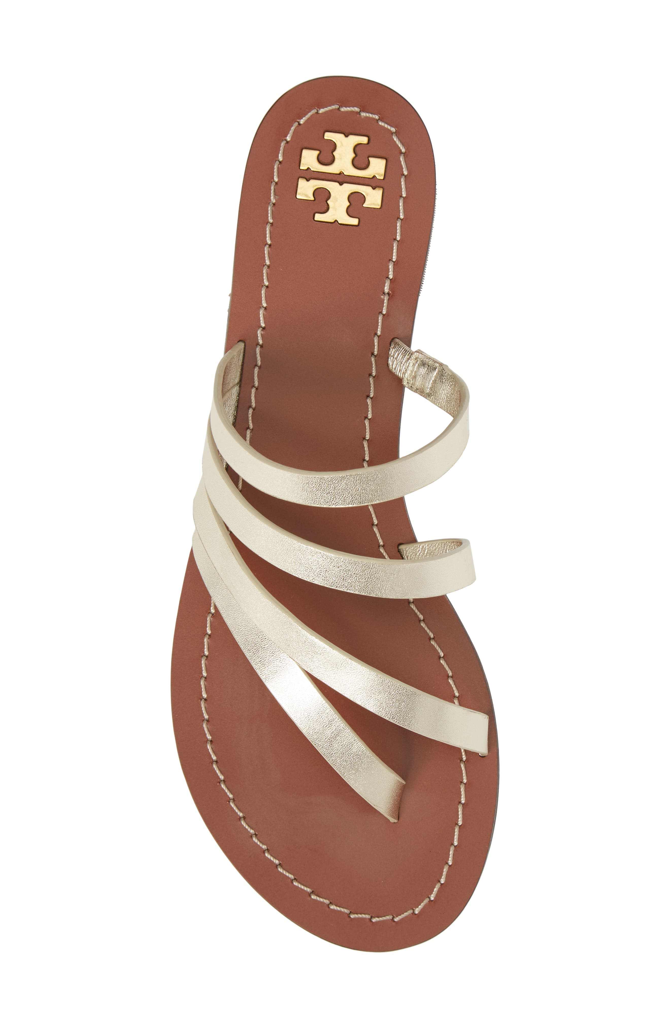 Patos Sandal,                             Alternate thumbnail 5, color,                             Spark Gold