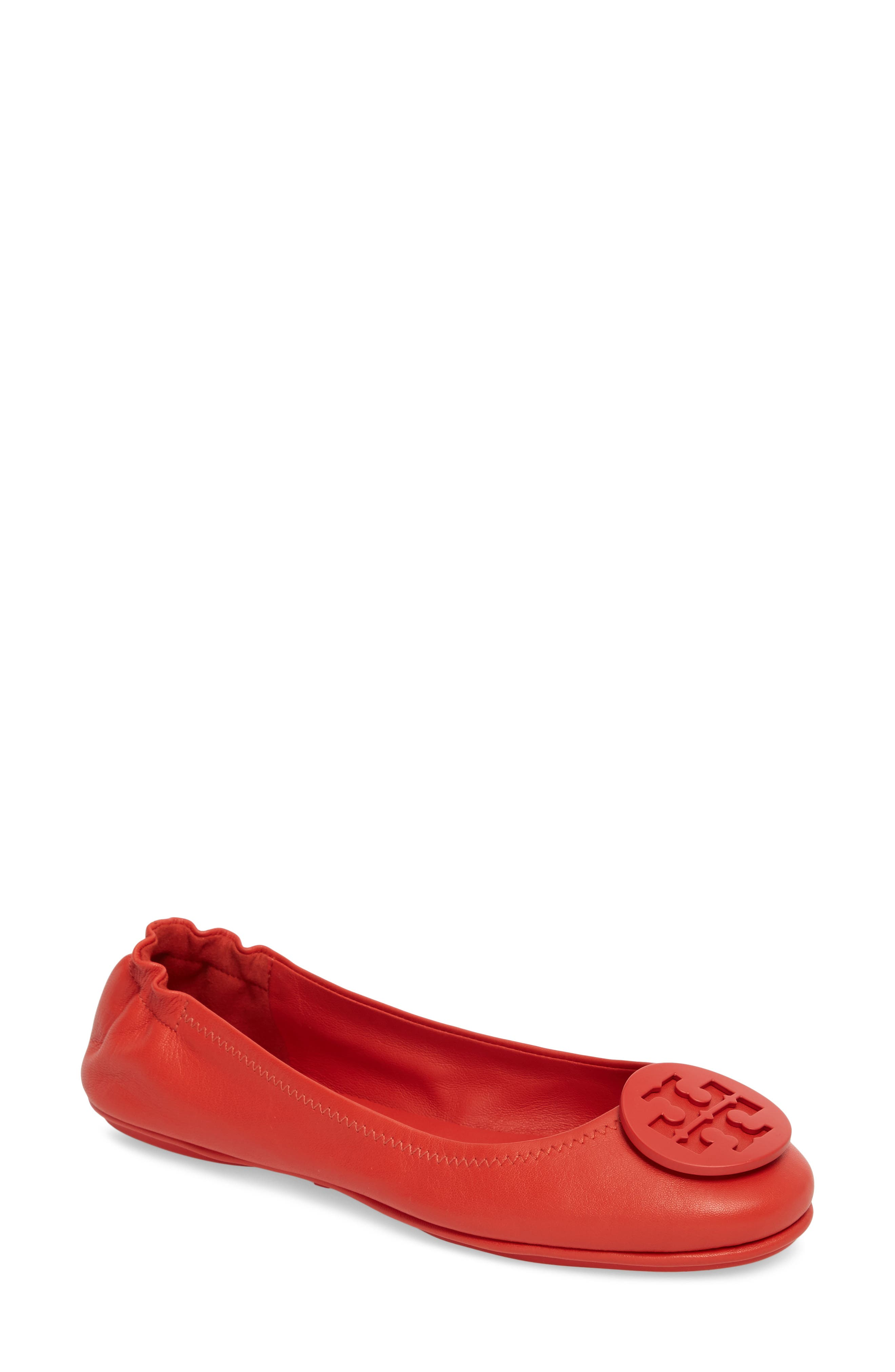 Alternate Image 1 Selected - Tory Burch 'Minnie' Travel Ballet Flat (Women)