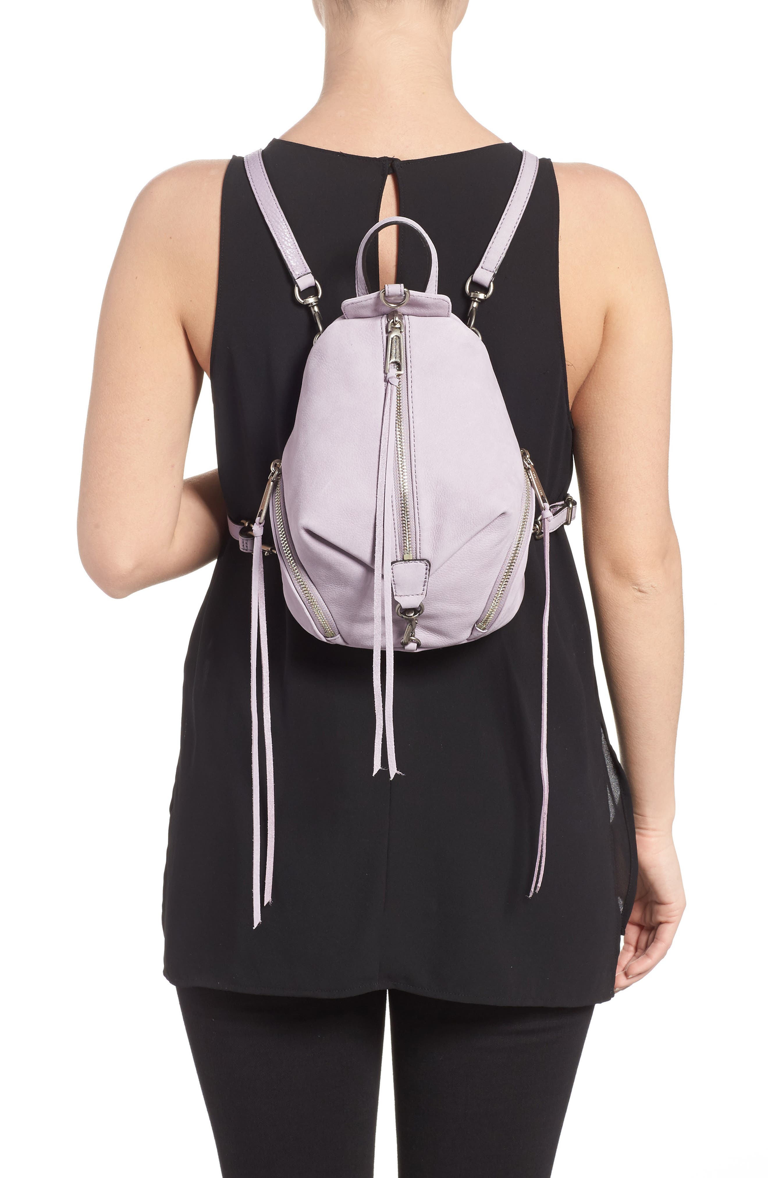 Alternate Image 2  - Rebecca Minkoff Mini Julian Nubuck Leather Convertible Backpack
