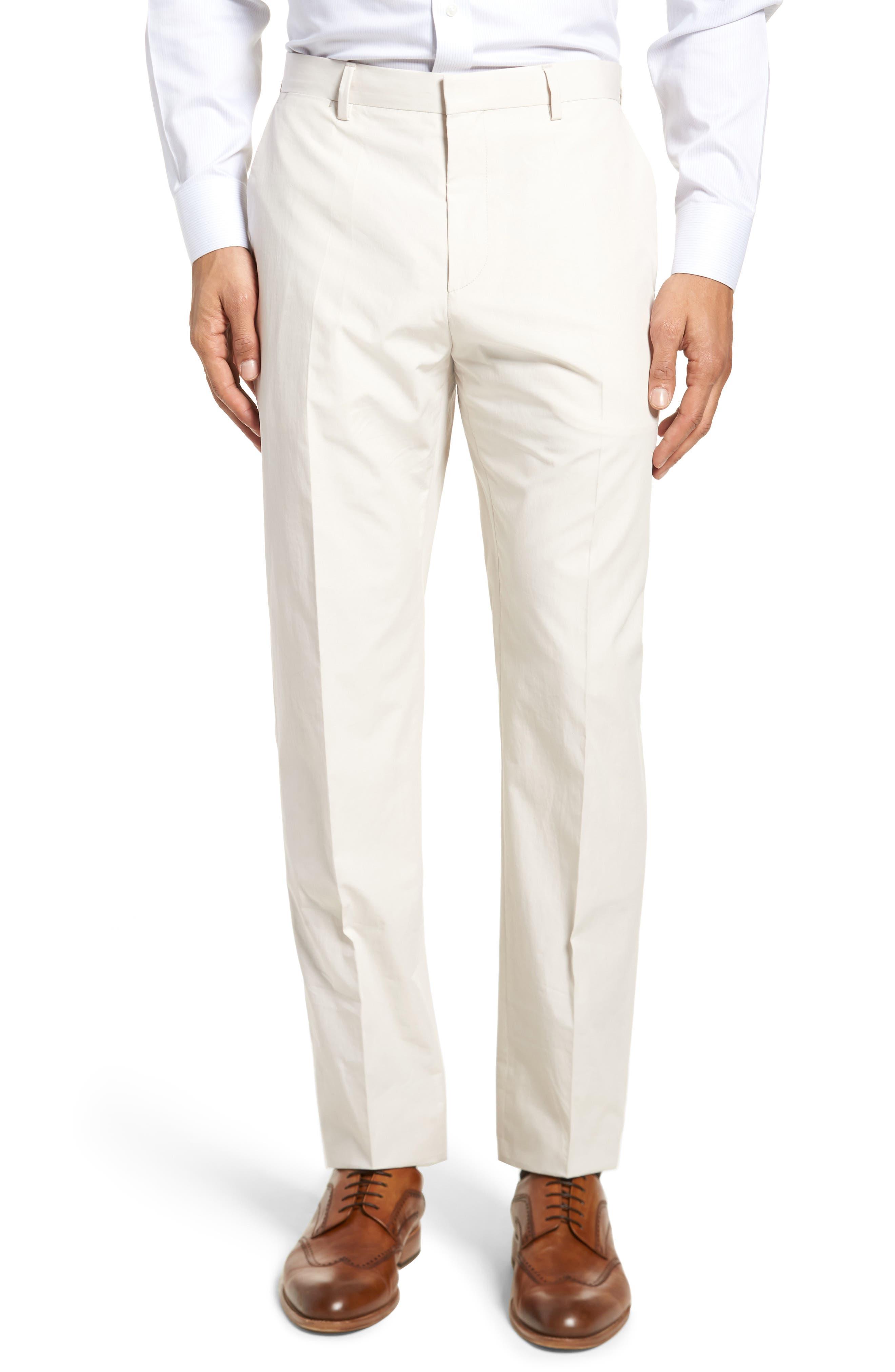 Nylen/Perry Trim Fit Solid Cotton Suit,                             Alternate thumbnail 6, color,                             Ivory