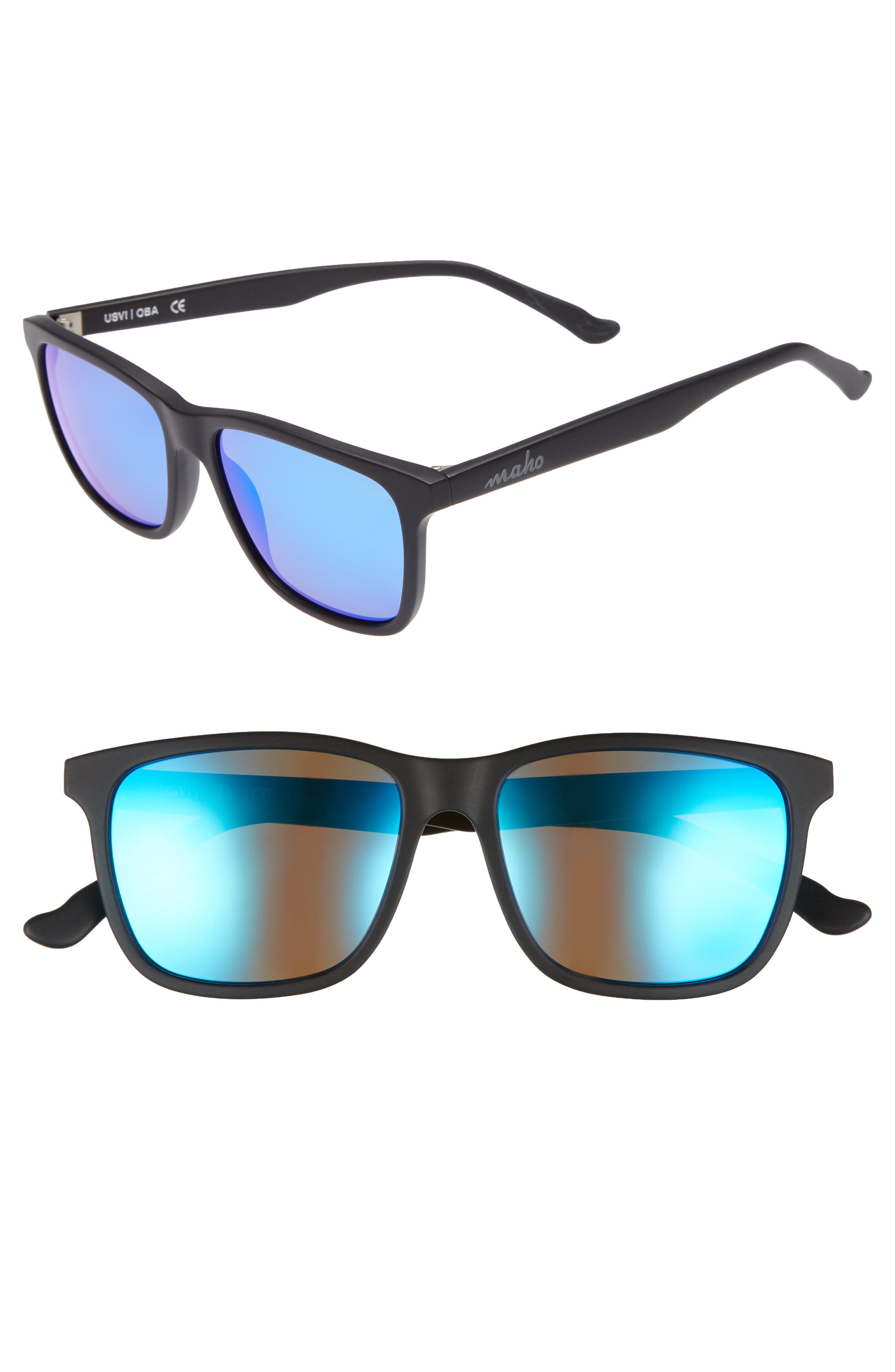 Uluwatu 52mm Polarized Sunglasses,                         Main,                         color, Charcoal