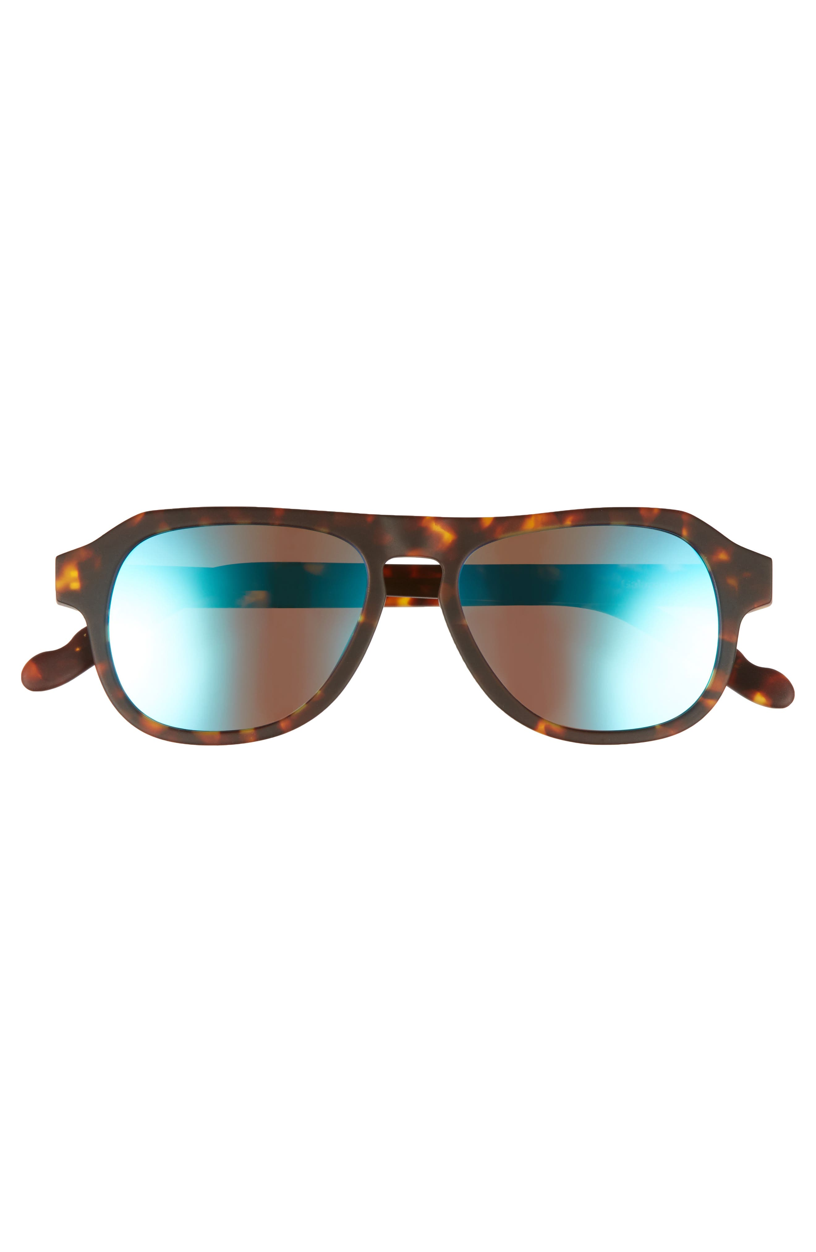Galapagos 48mm Polarized Flat Top Sunglasses,                             Alternate thumbnail 3, color,                             Java