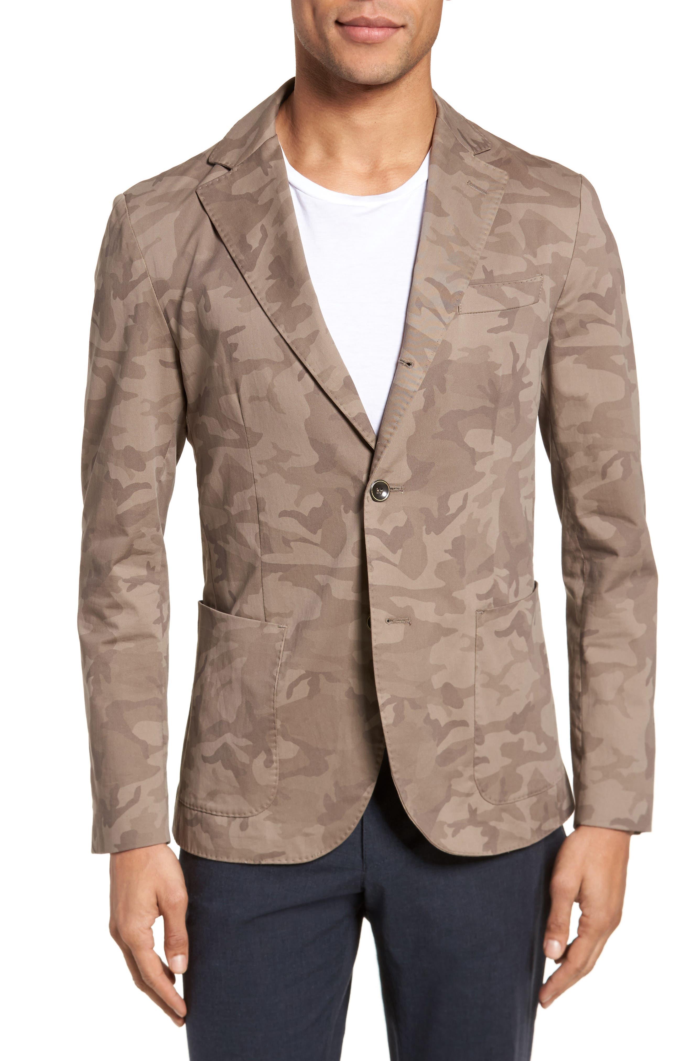Eleventy Trim Fit Camo Jacket