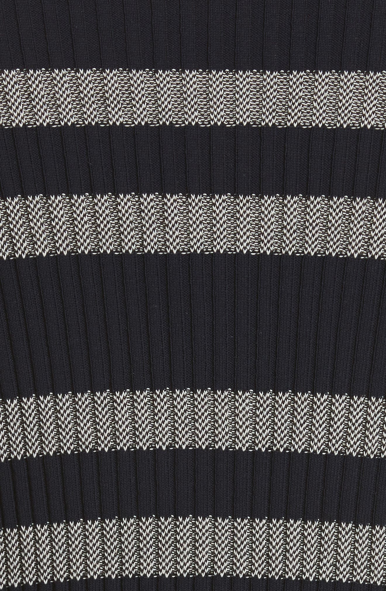 Slant Hem Stripe Sweater,                             Alternate thumbnail 5, color,                             Dark Navy