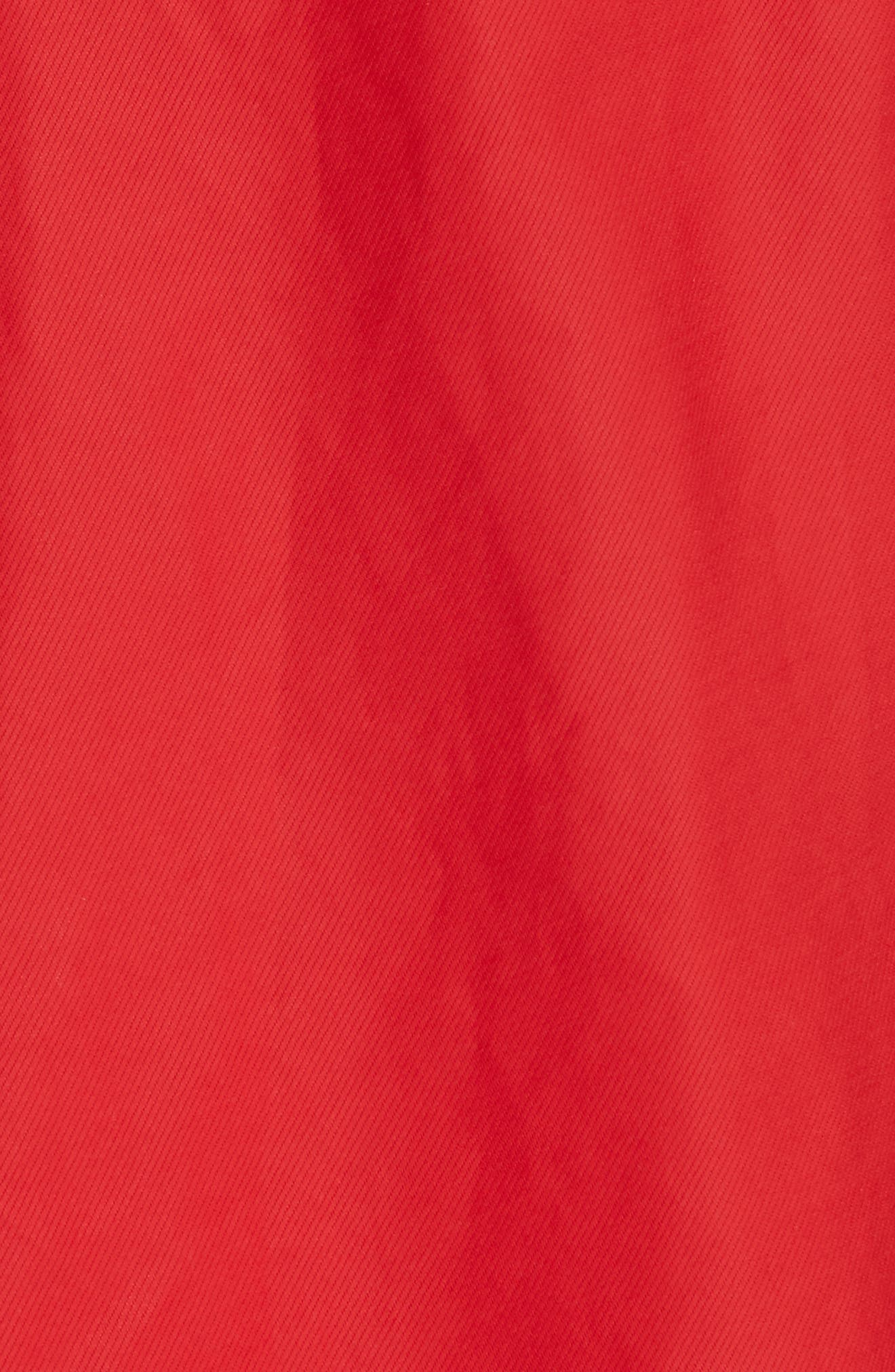 Faux Wrap Skirt,                             Alternate thumbnail 5, color,                             Red Pepper