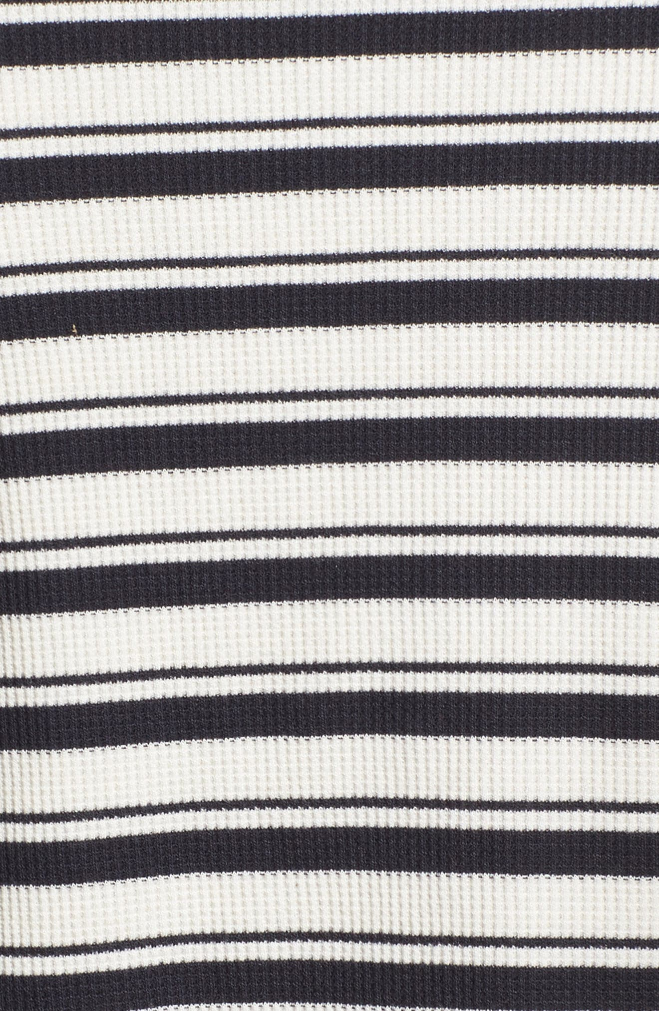 Stripe Lace-Up Tee,                             Alternate thumbnail 5, color,                             Navy