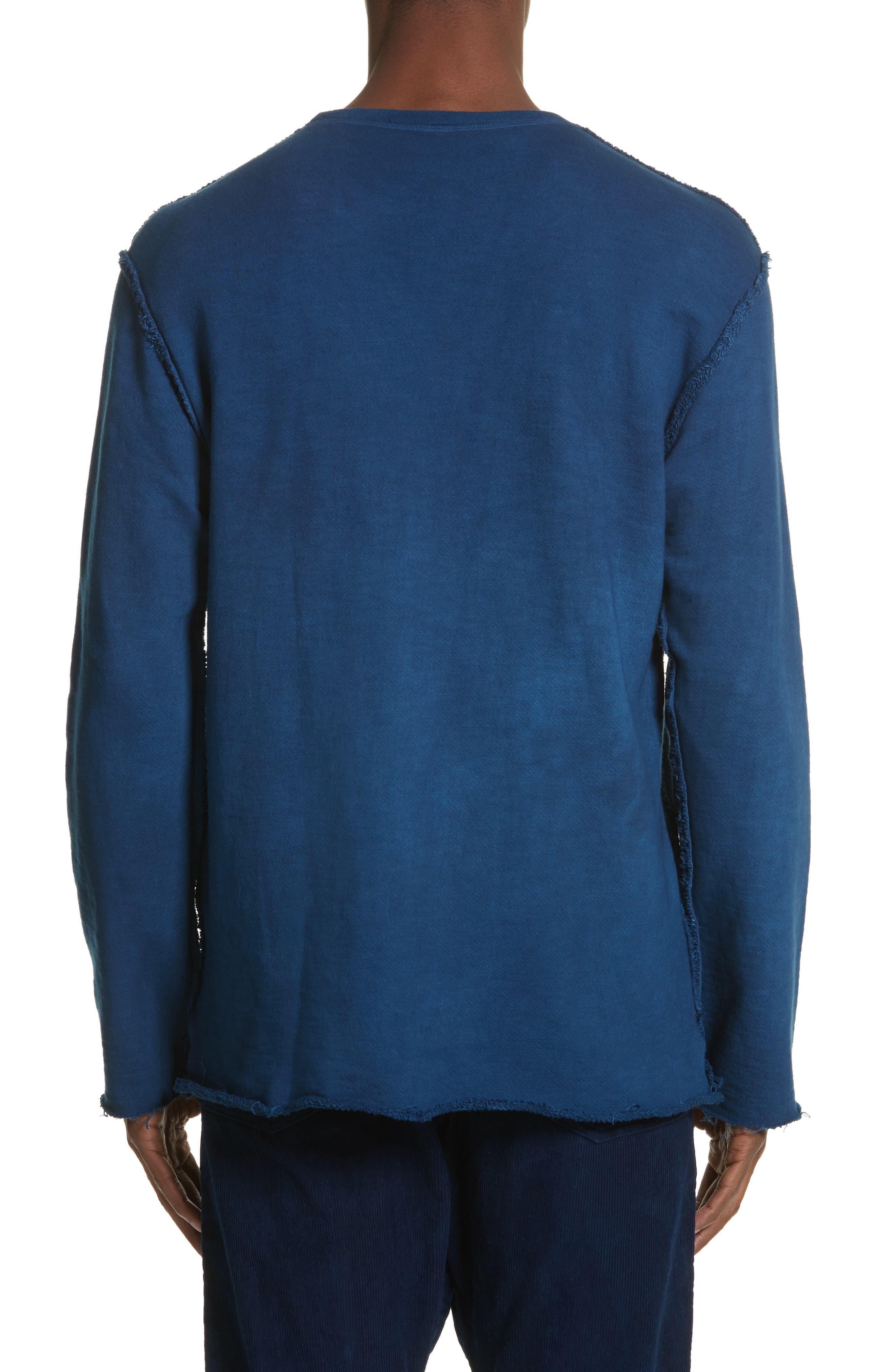Malibu Reversible Sweatshirt,                             Alternate thumbnail 3, color,                             Indigo