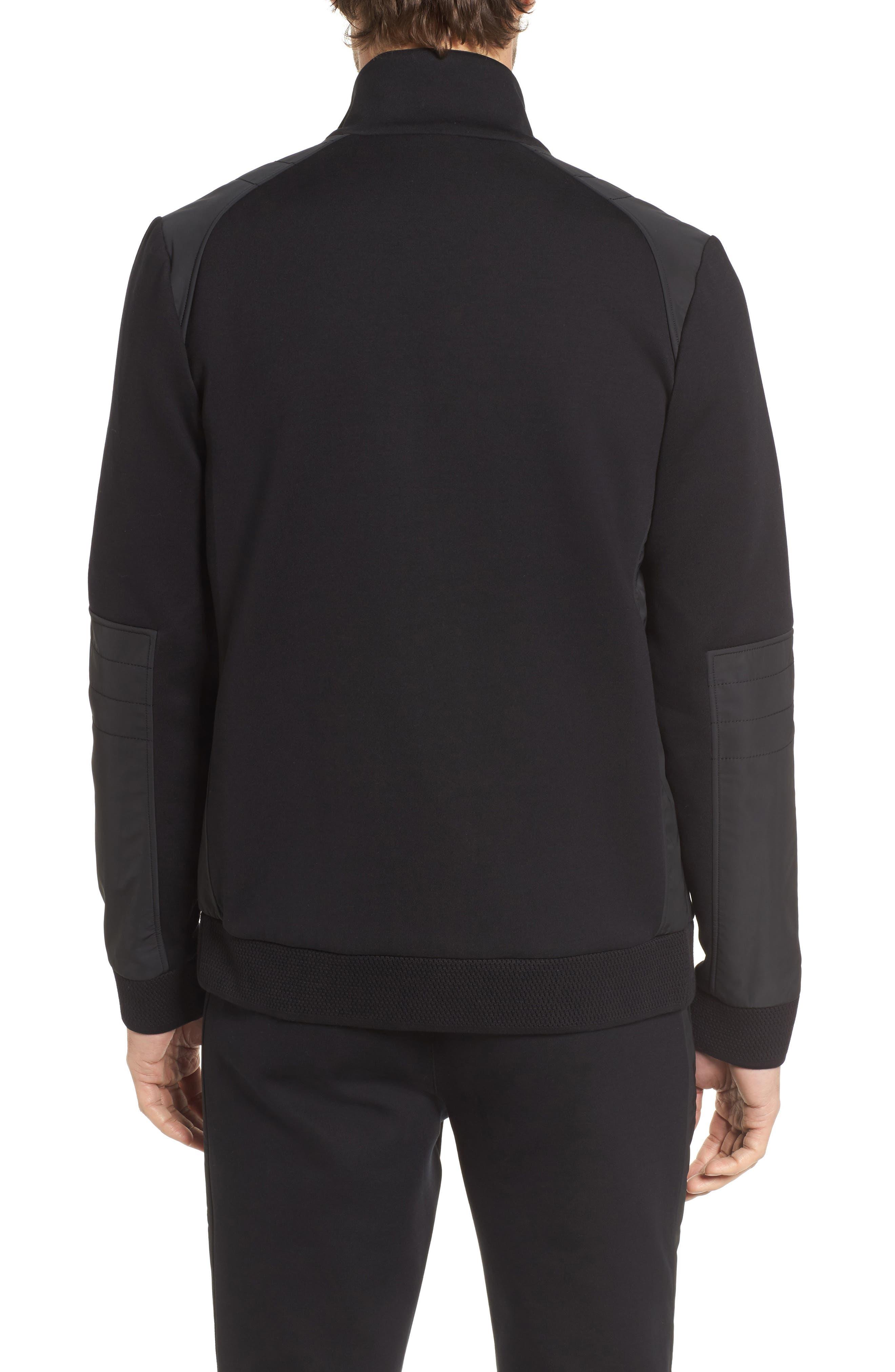 Soule Mercedes Slim Fit Zip Jacket,                             Alternate thumbnail 2, color,                             Black