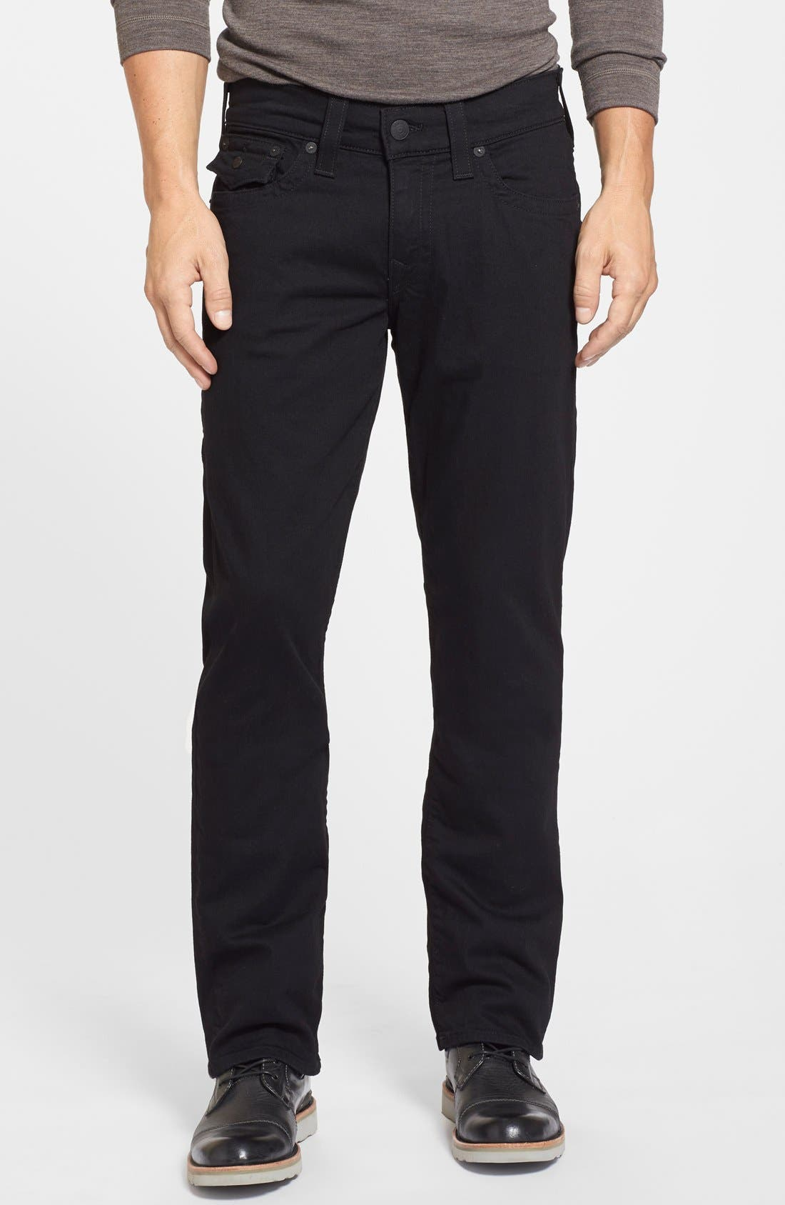 Alternate Image 1 Selected - True Religion Brand Jeans Ricky Relaxed Fit Jeans (Midnight Black)