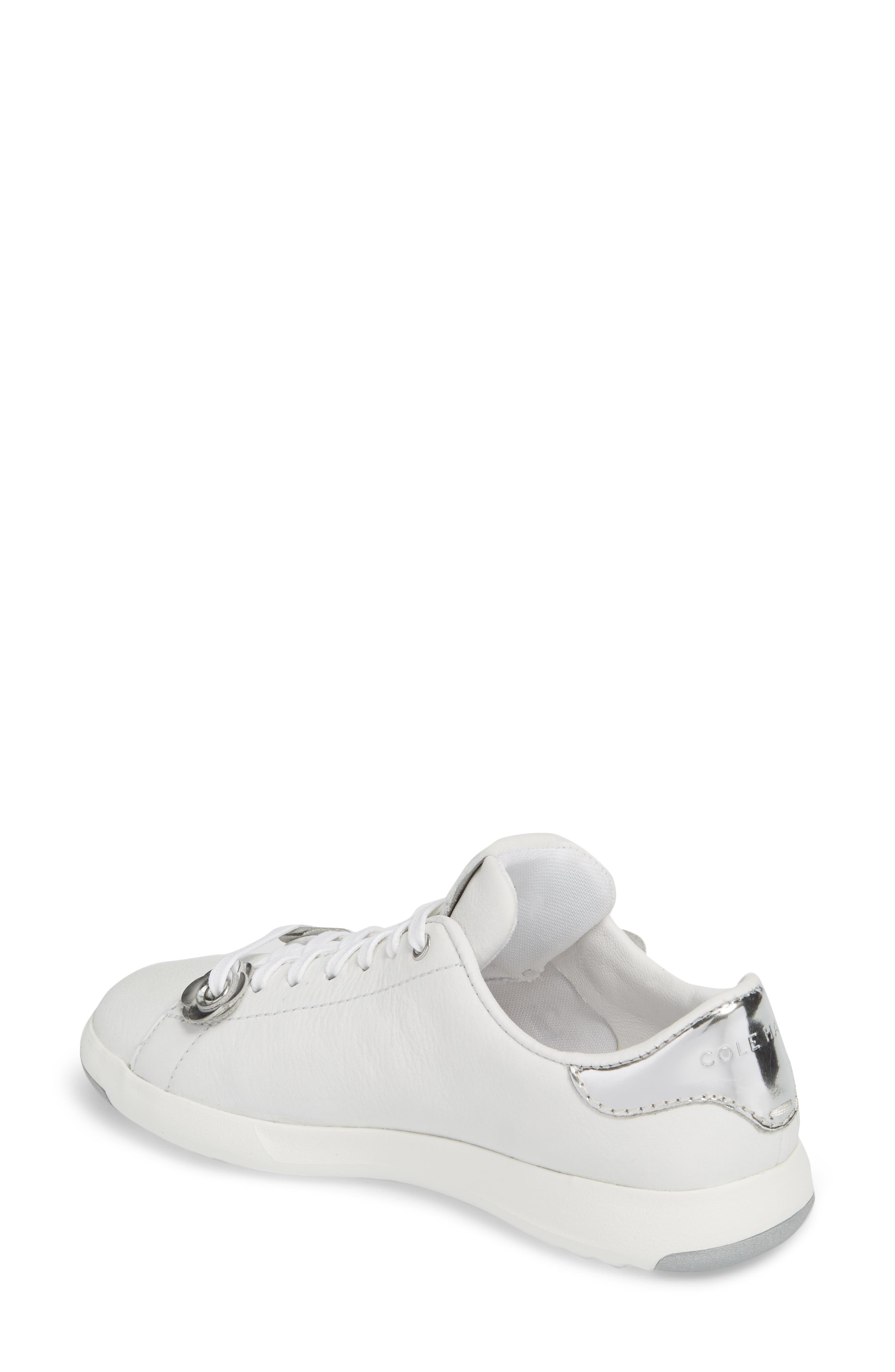 GrandPro Tennis Sneaker,                             Alternate thumbnail 2, color,                             White Leather