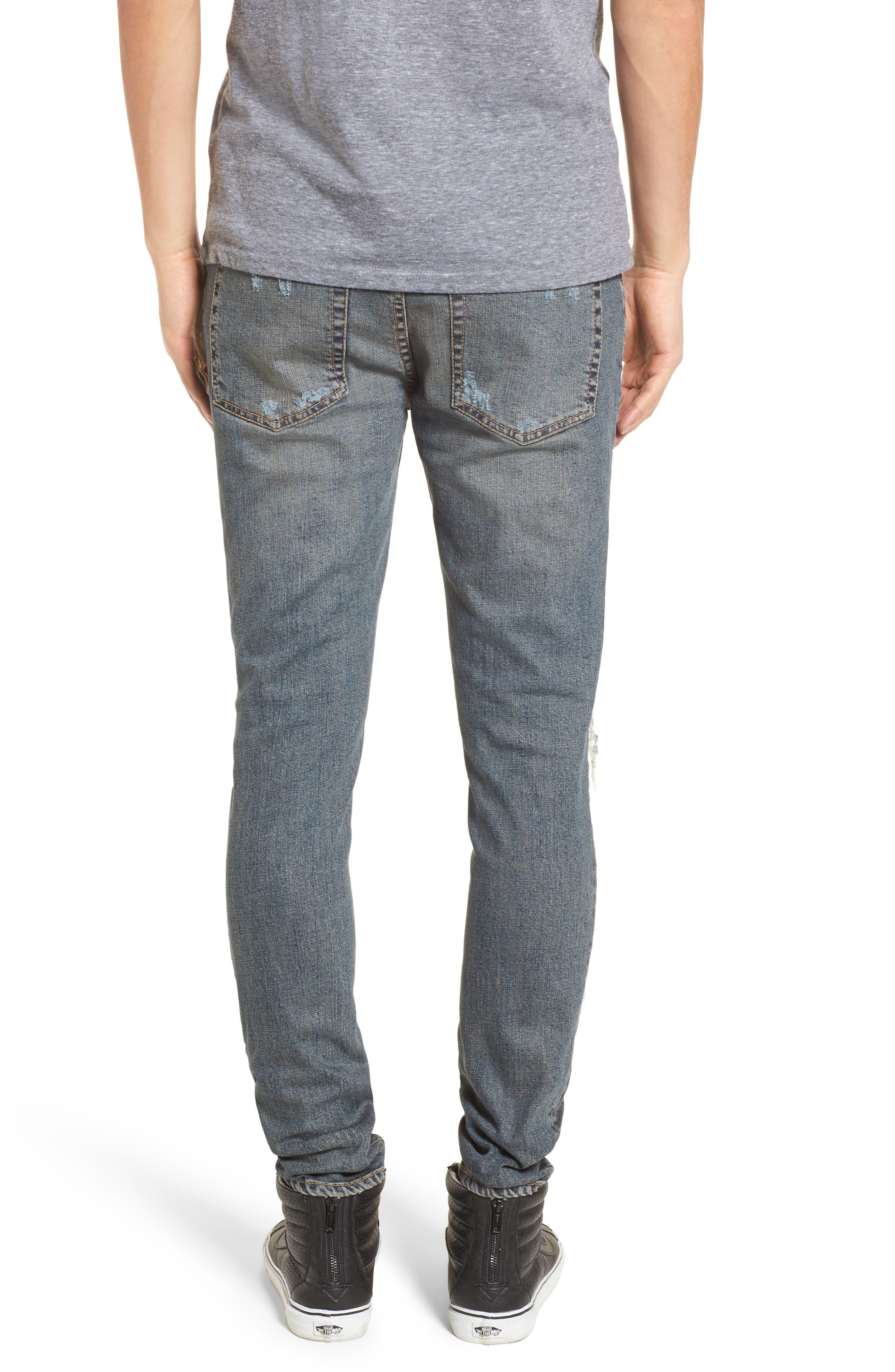 Repairer Slim Fit Denim Pants,                             Alternate thumbnail 2, color,                             Rockstar Blue