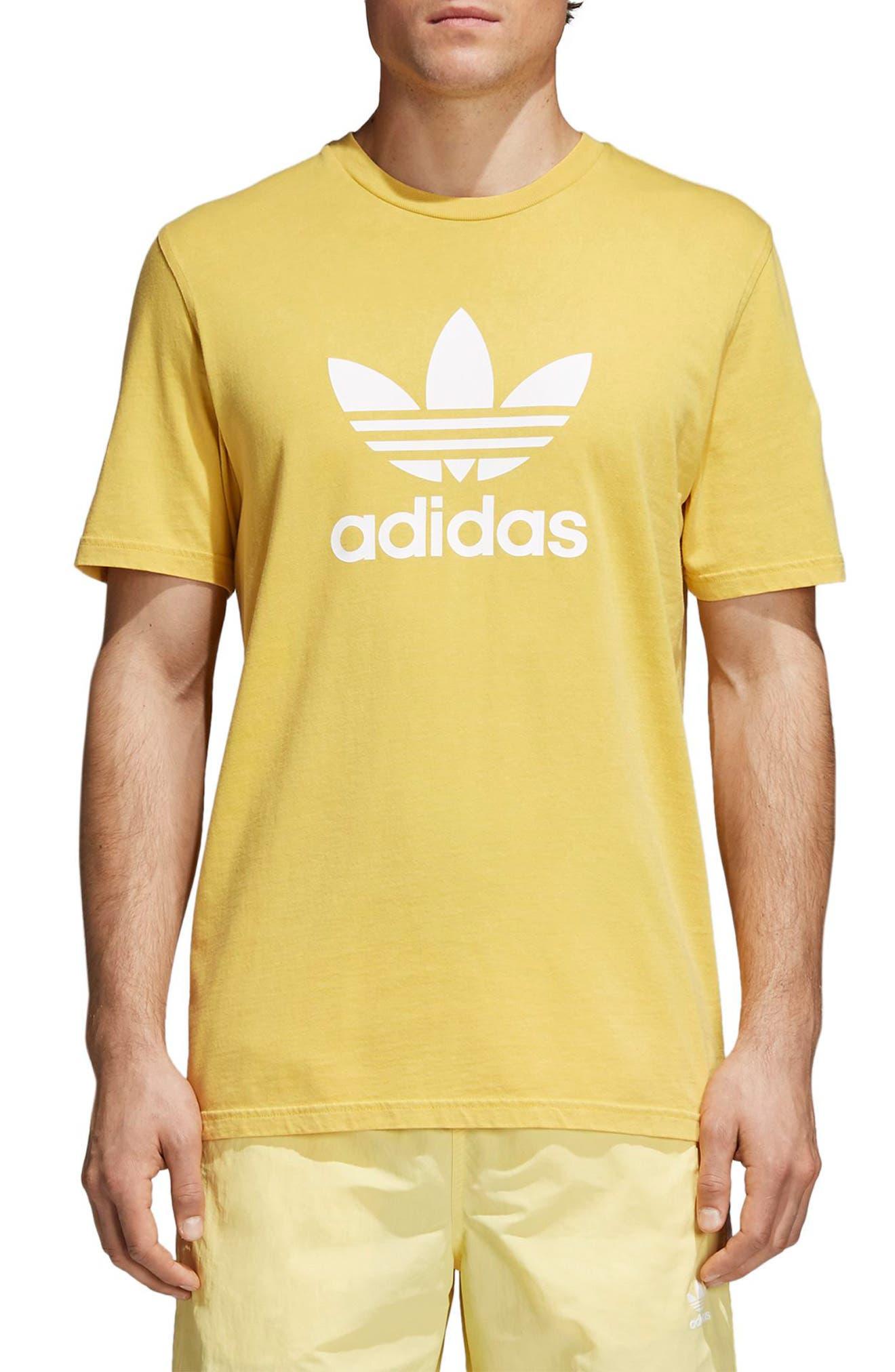 Trefoil T-Shirt,                         Main,                         color, Tribe Yellow