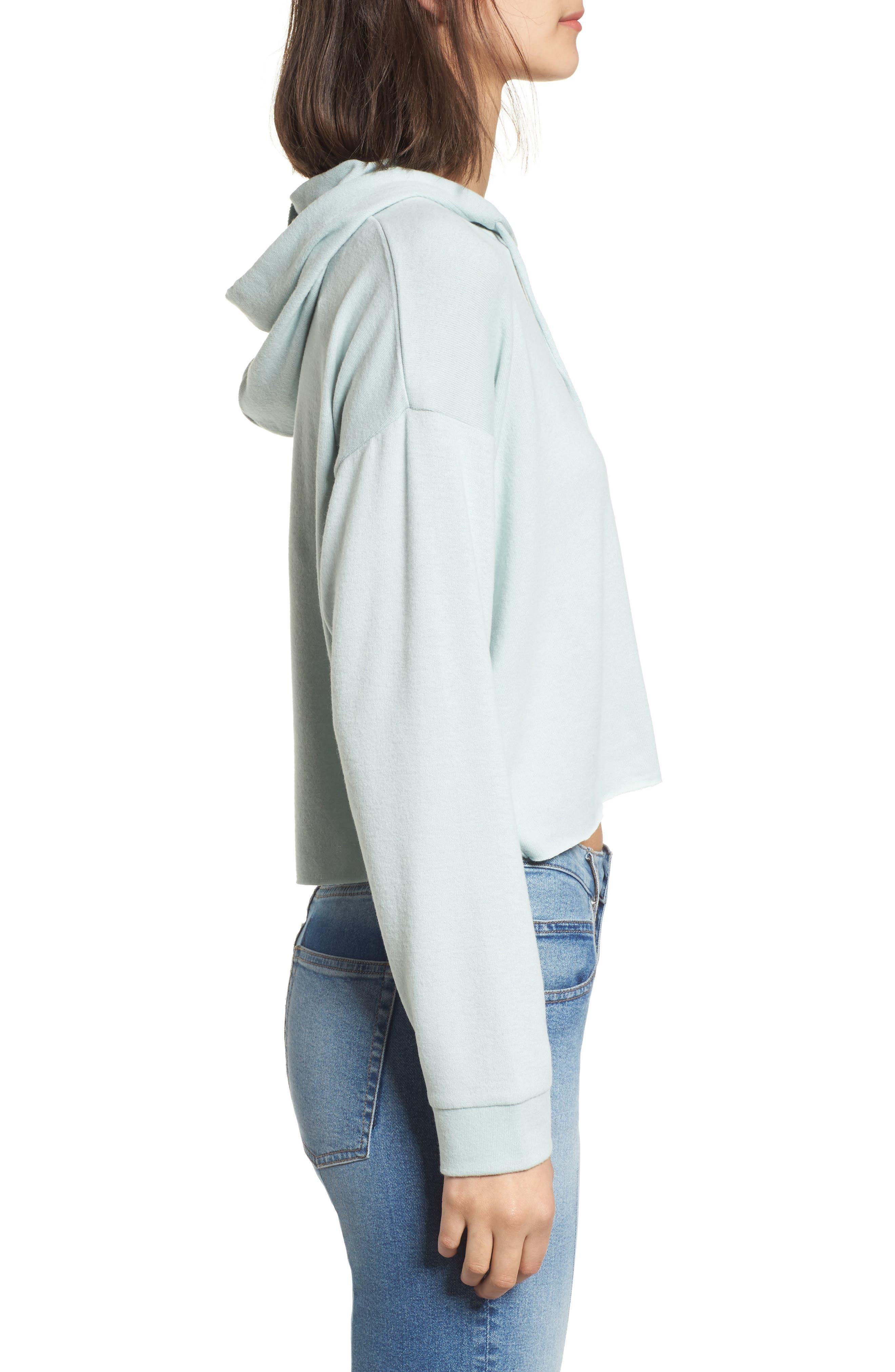 Alternate Image 3  - Cotton Emporium Cozy Crop Hoodie