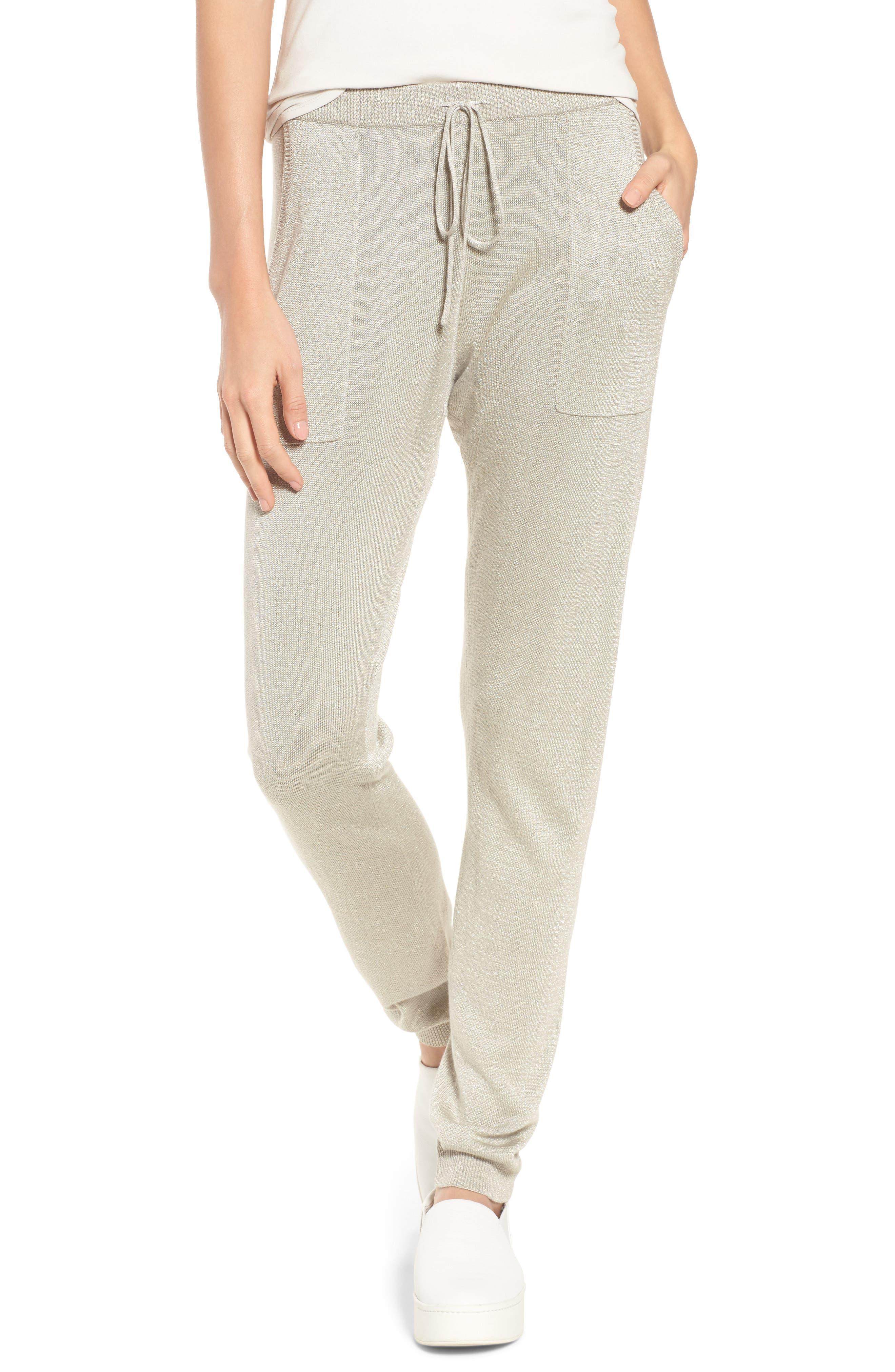 Elisabeth Drawstring Jogger Pants,                         Main,                         color, Dove