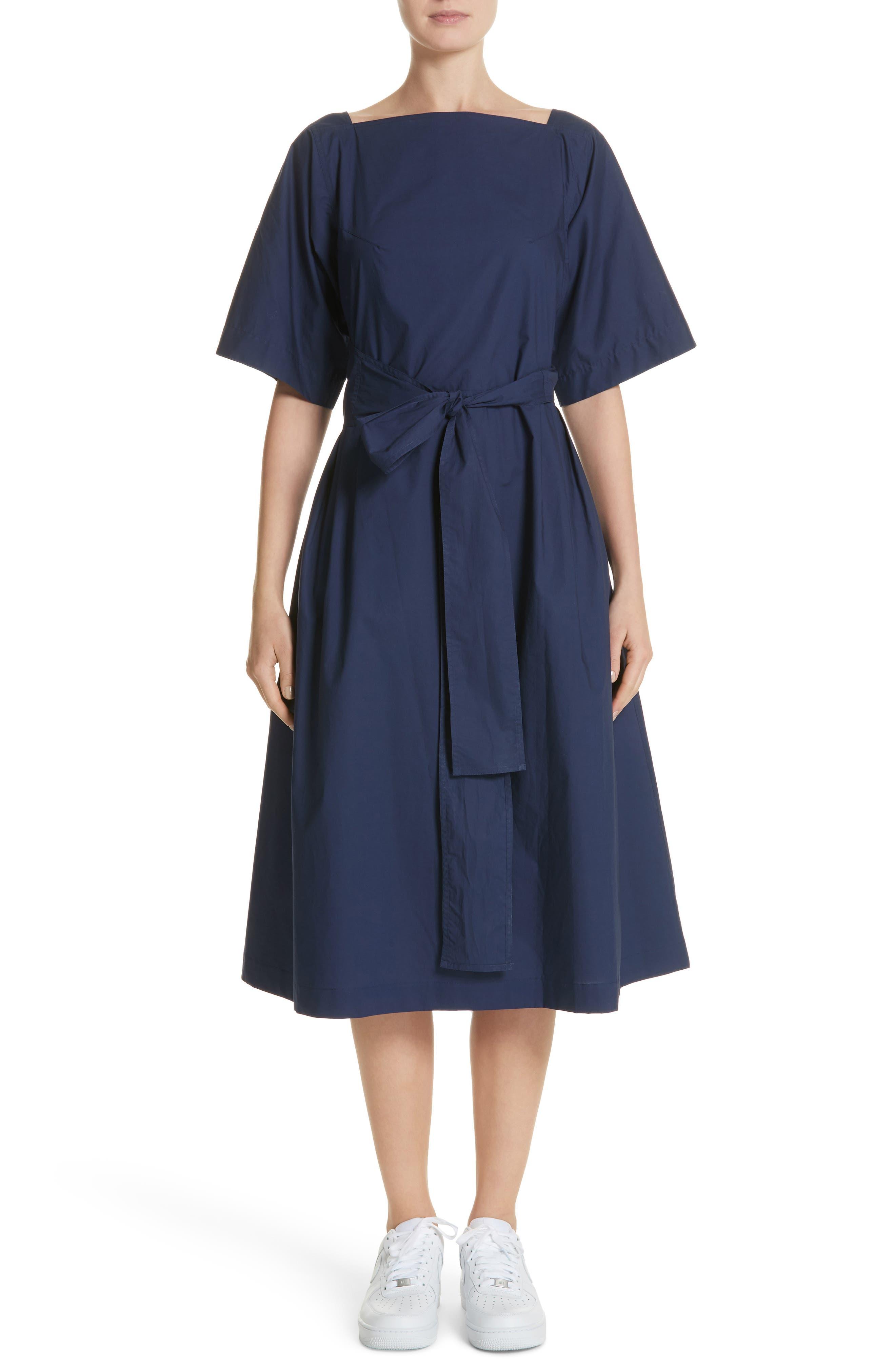 Tie Waist Dress,                         Main,                         color, Matelot