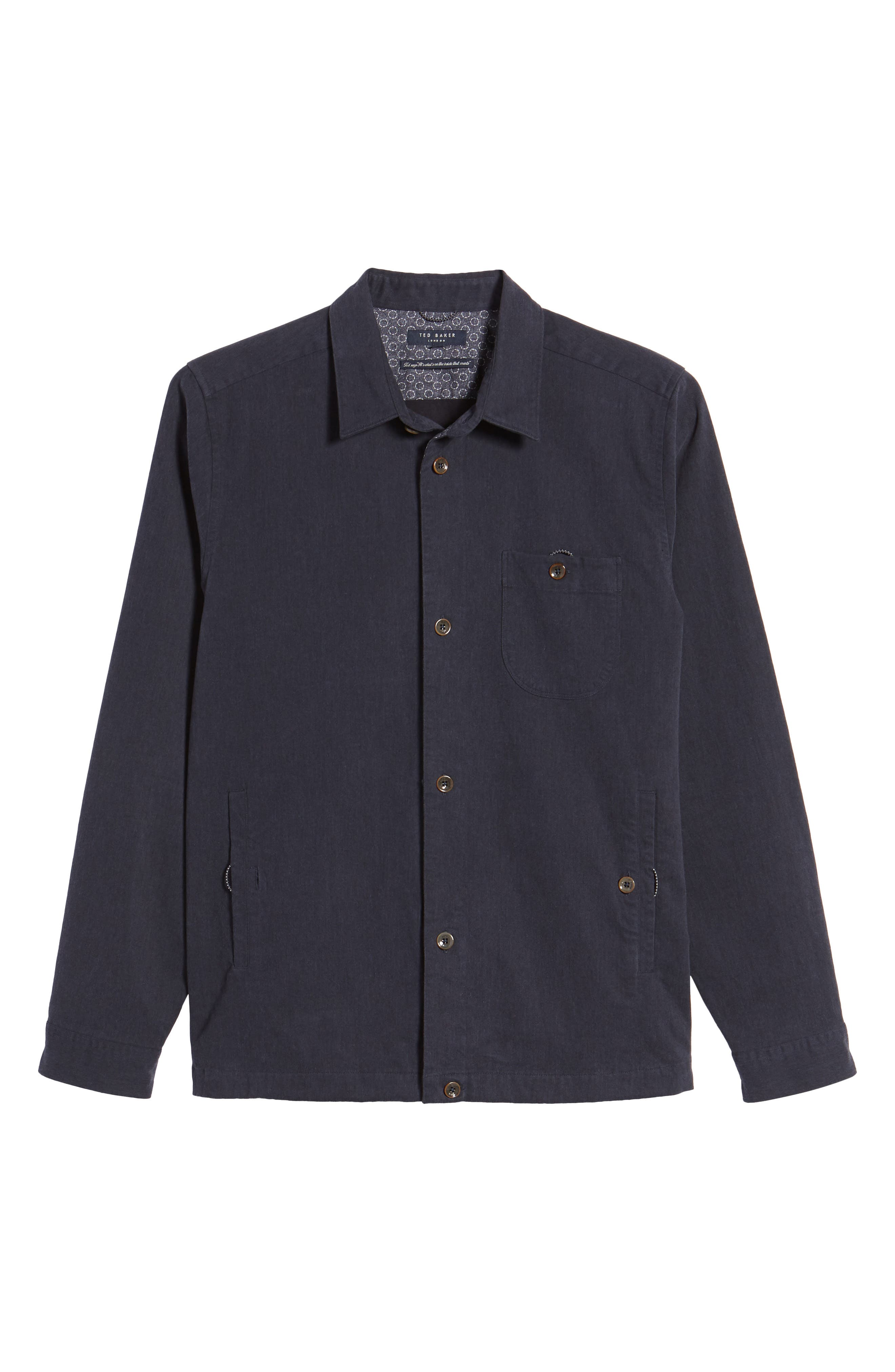Keebord Shirt Jacket,                             Alternate thumbnail 6, color,                             Navy