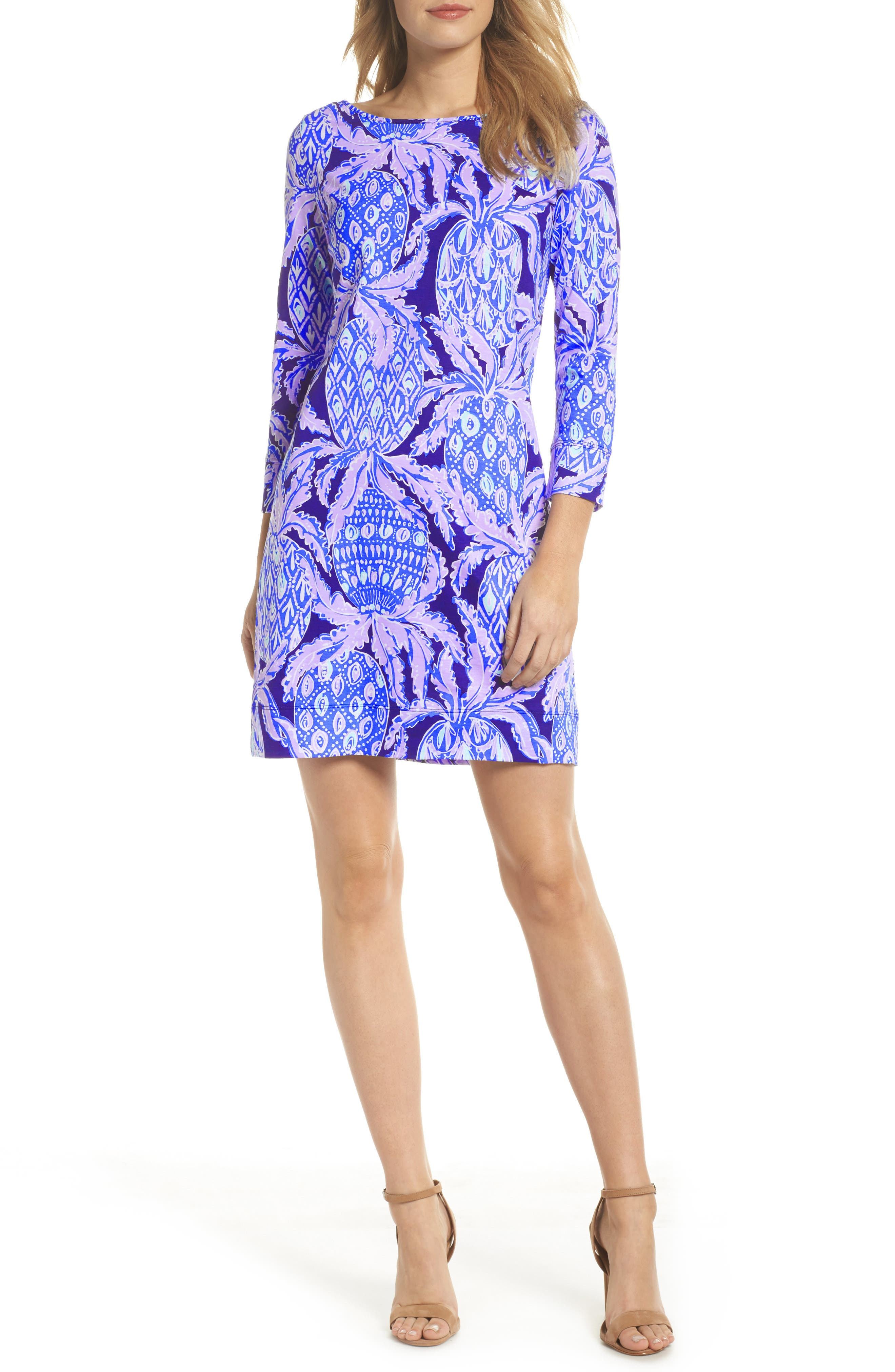 Marlowe Shift Dress,                             Main thumbnail 1, color,                             Lilac Verbena Coco Safari