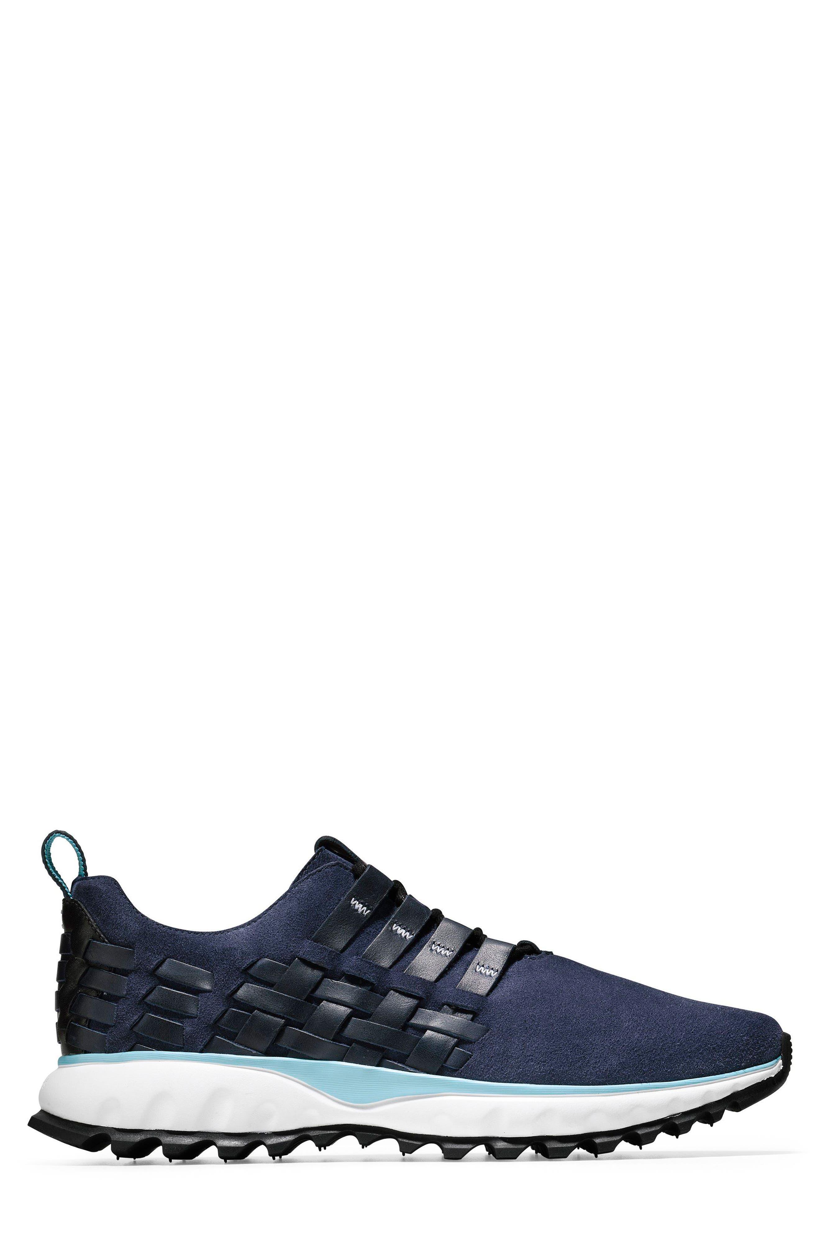 GrandExplore All Terrain Woven Sneaker,                             Alternate thumbnail 3, color,                             Marine Blue/Optic White/Black