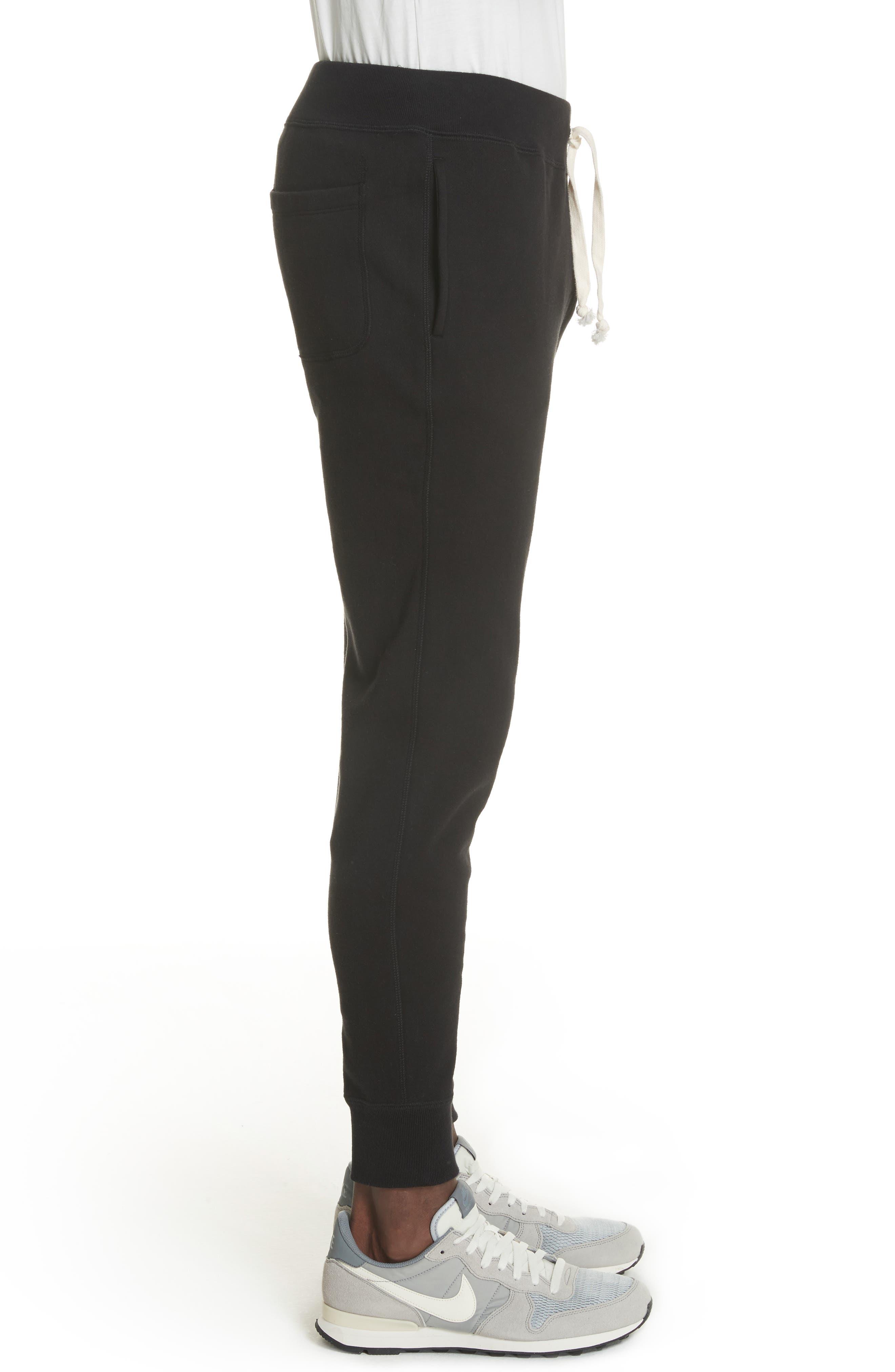 Cotton Blend Jogger Pants,                             Alternate thumbnail 3, color,                             Black