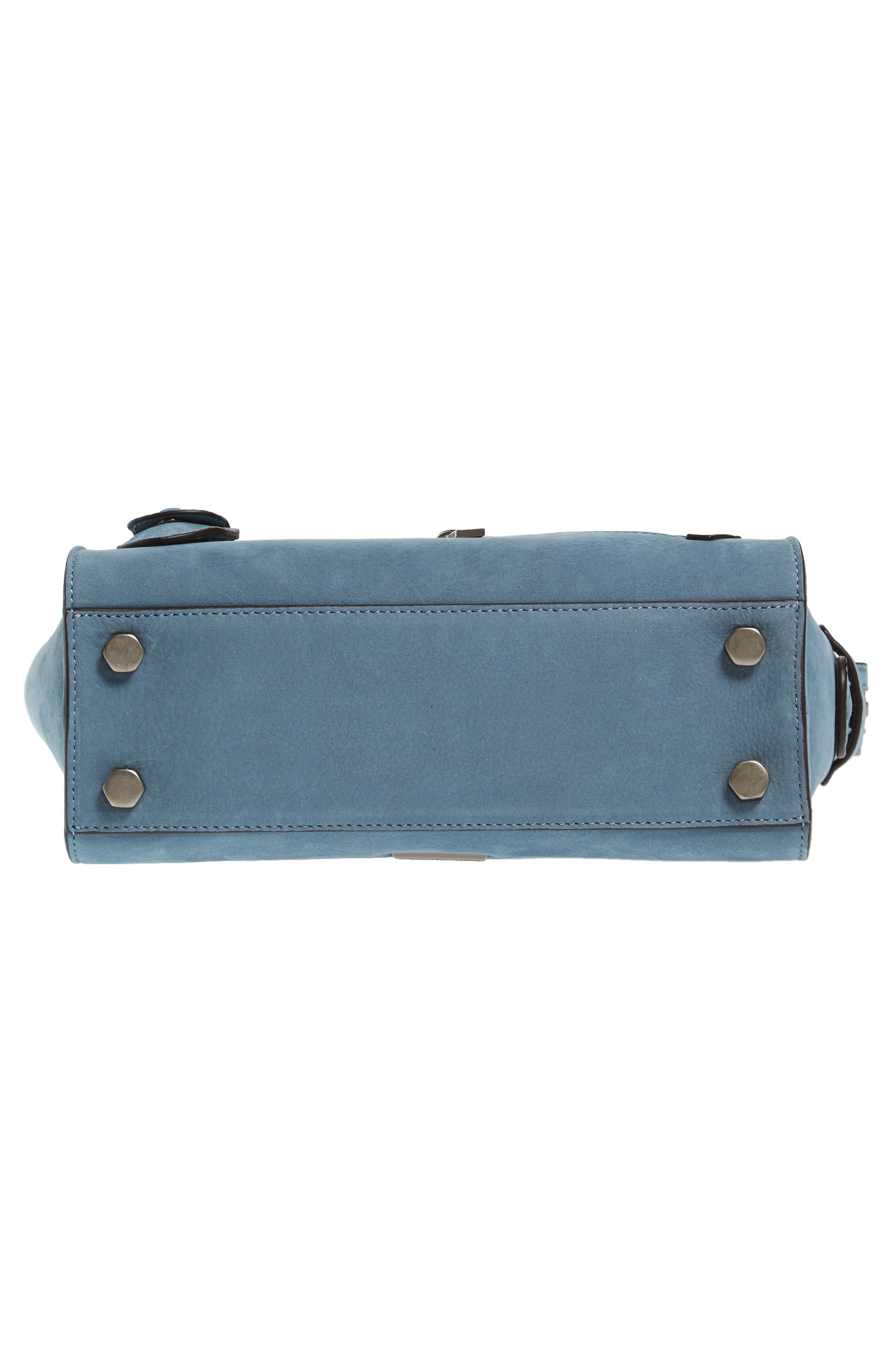 Small Jamie Leather Satchel,                             Alternate thumbnail 6, color,                             Dusty Blue