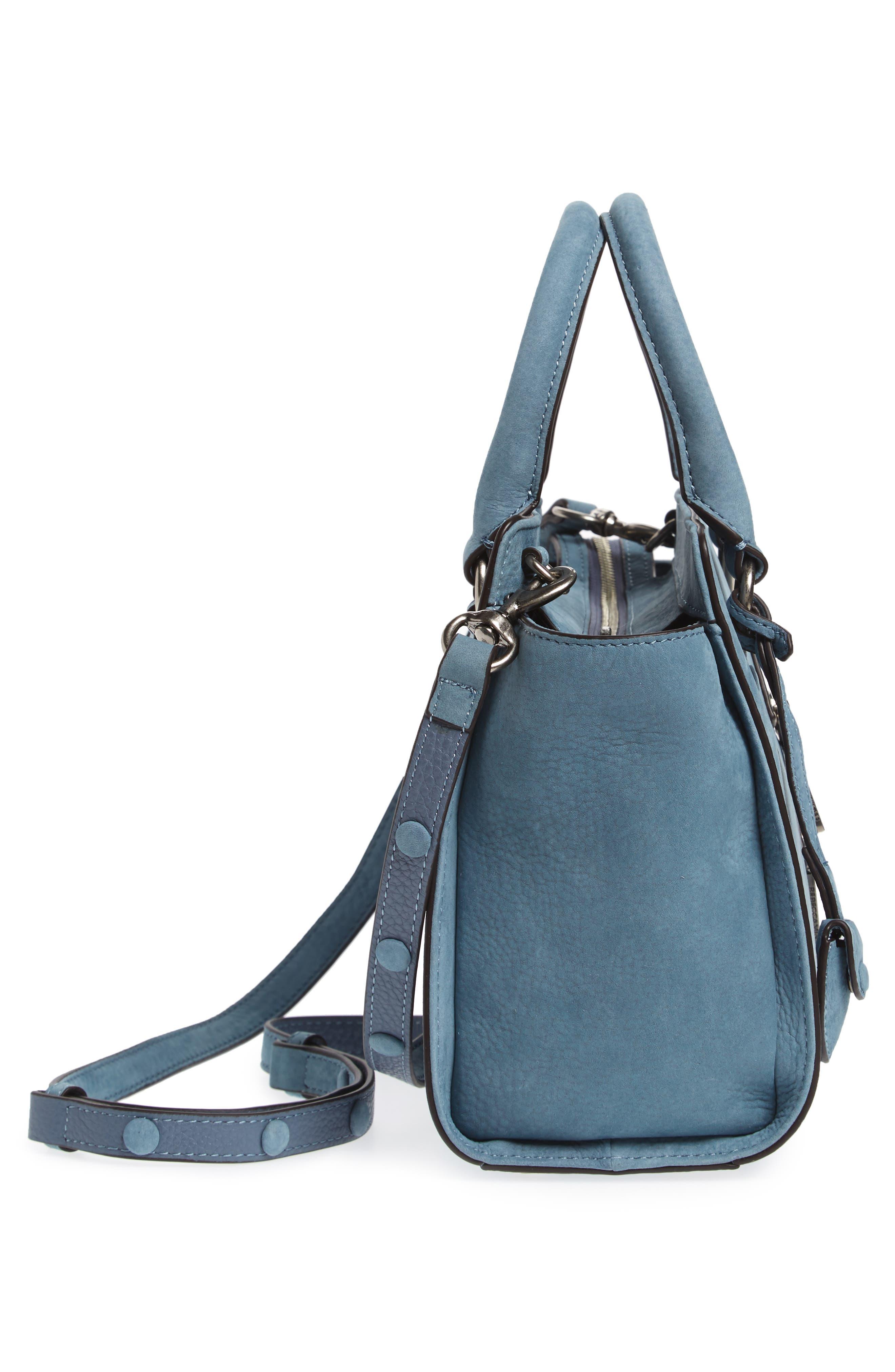 Small Jamie Leather Satchel,                             Alternate thumbnail 5, color,                             Dusty Blue