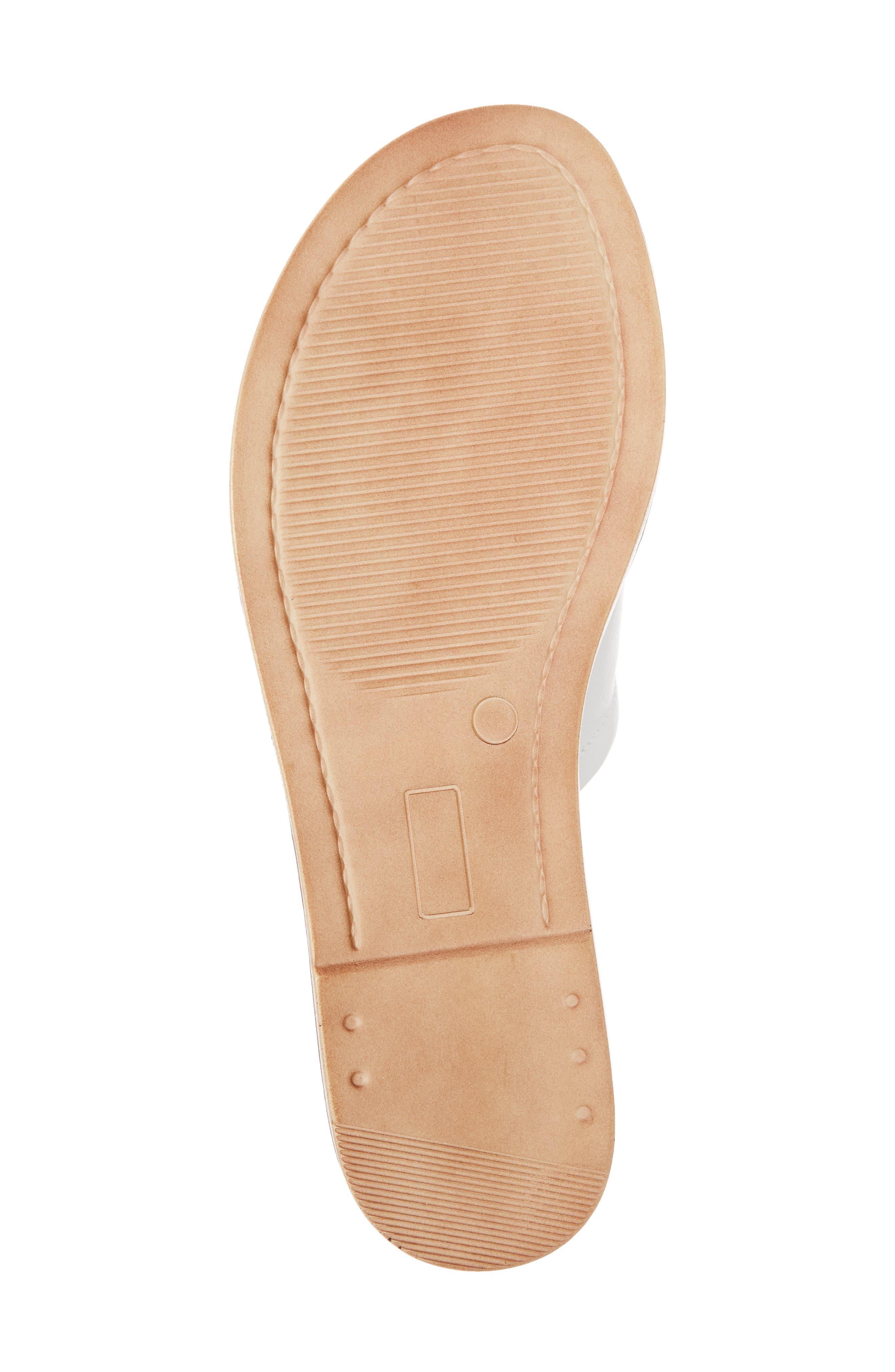 Ros Slide Sandal,                             Alternate thumbnail 6, color,                             White Leather