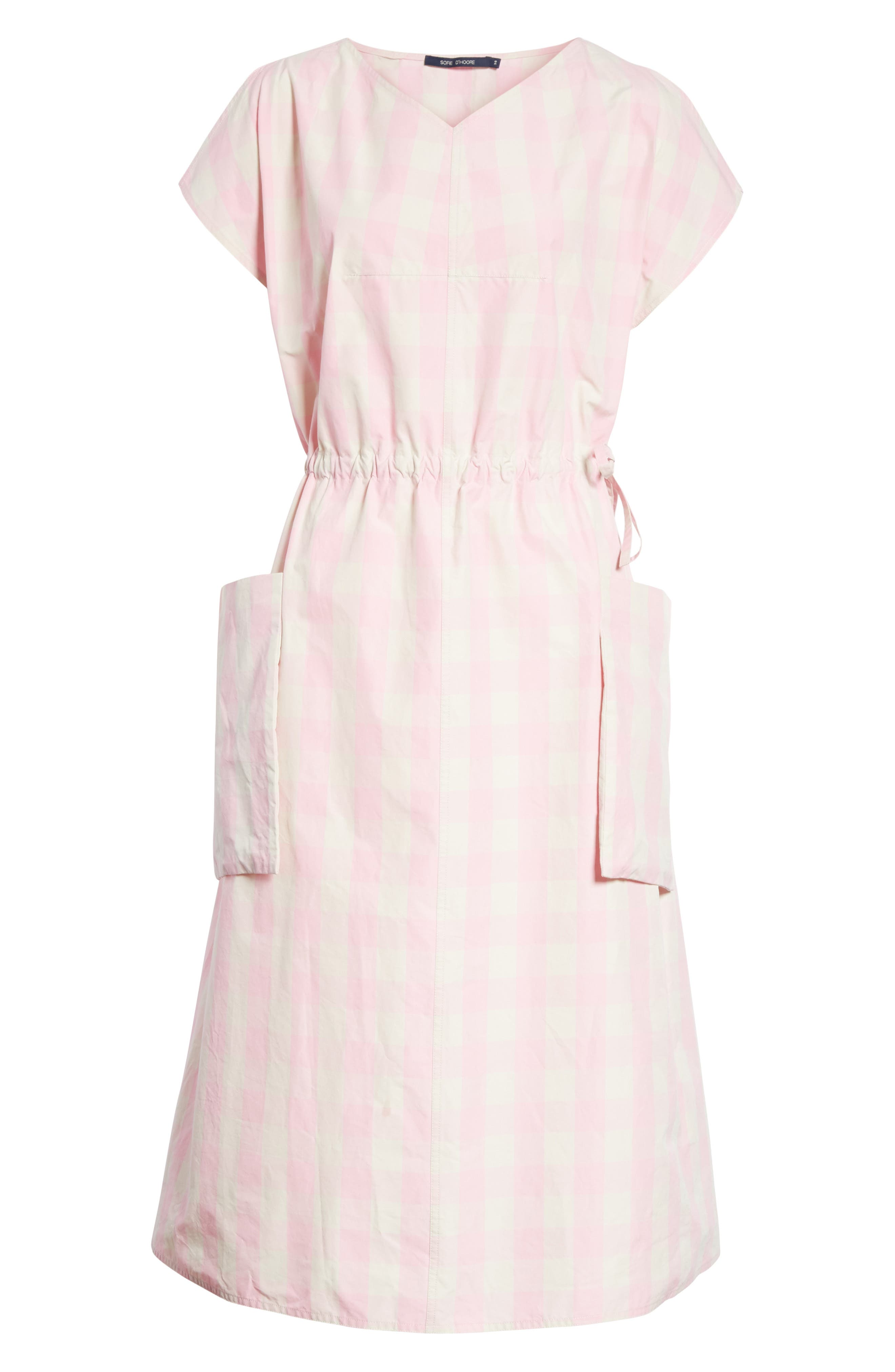 Alternate Image 6  - Sofie D'Hoore Gathered Waist Gingham Dress