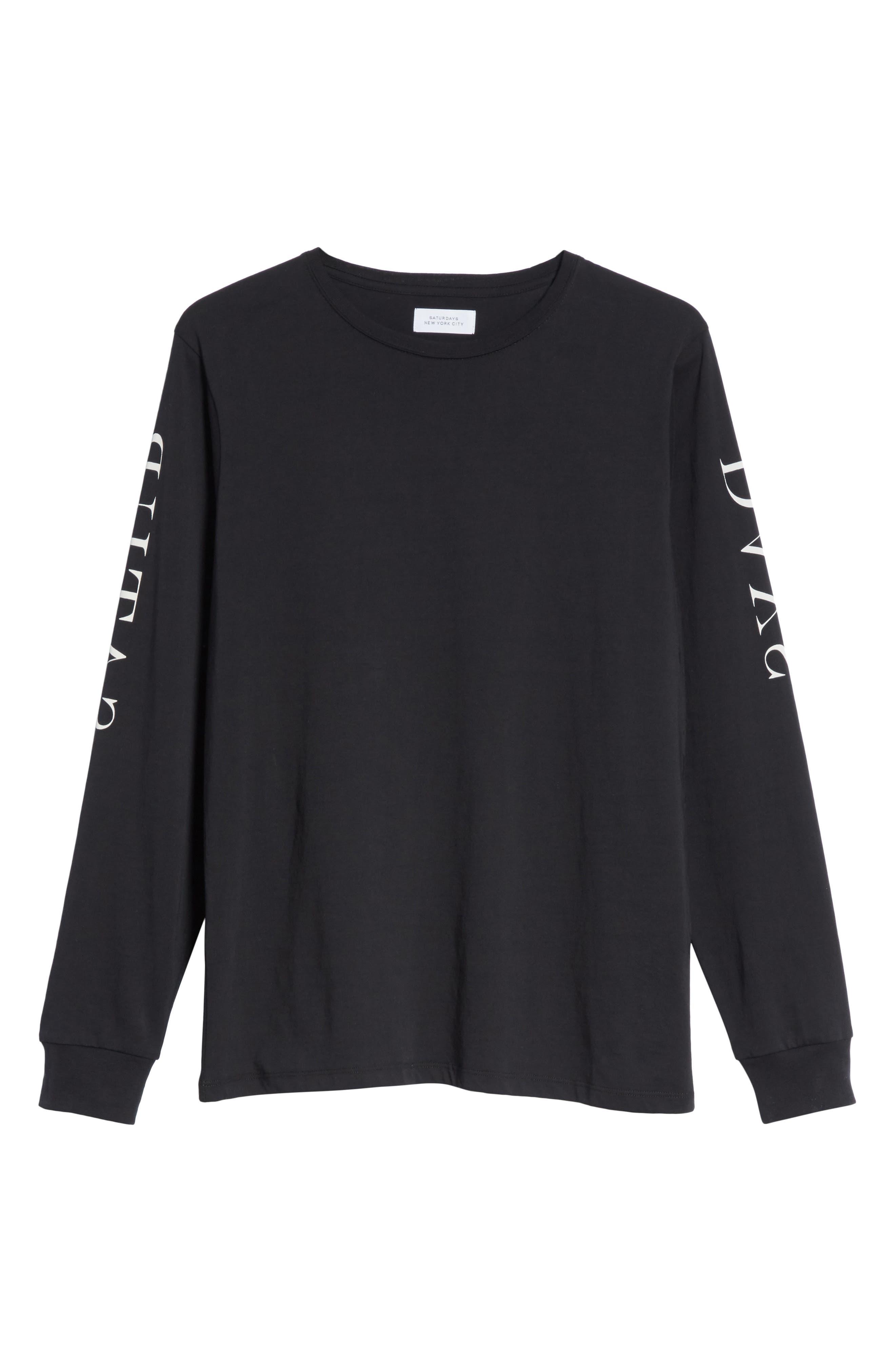 Alternate Image 6  - Saturdays NYC Reverse Print Long Sleeve T-Shirt
