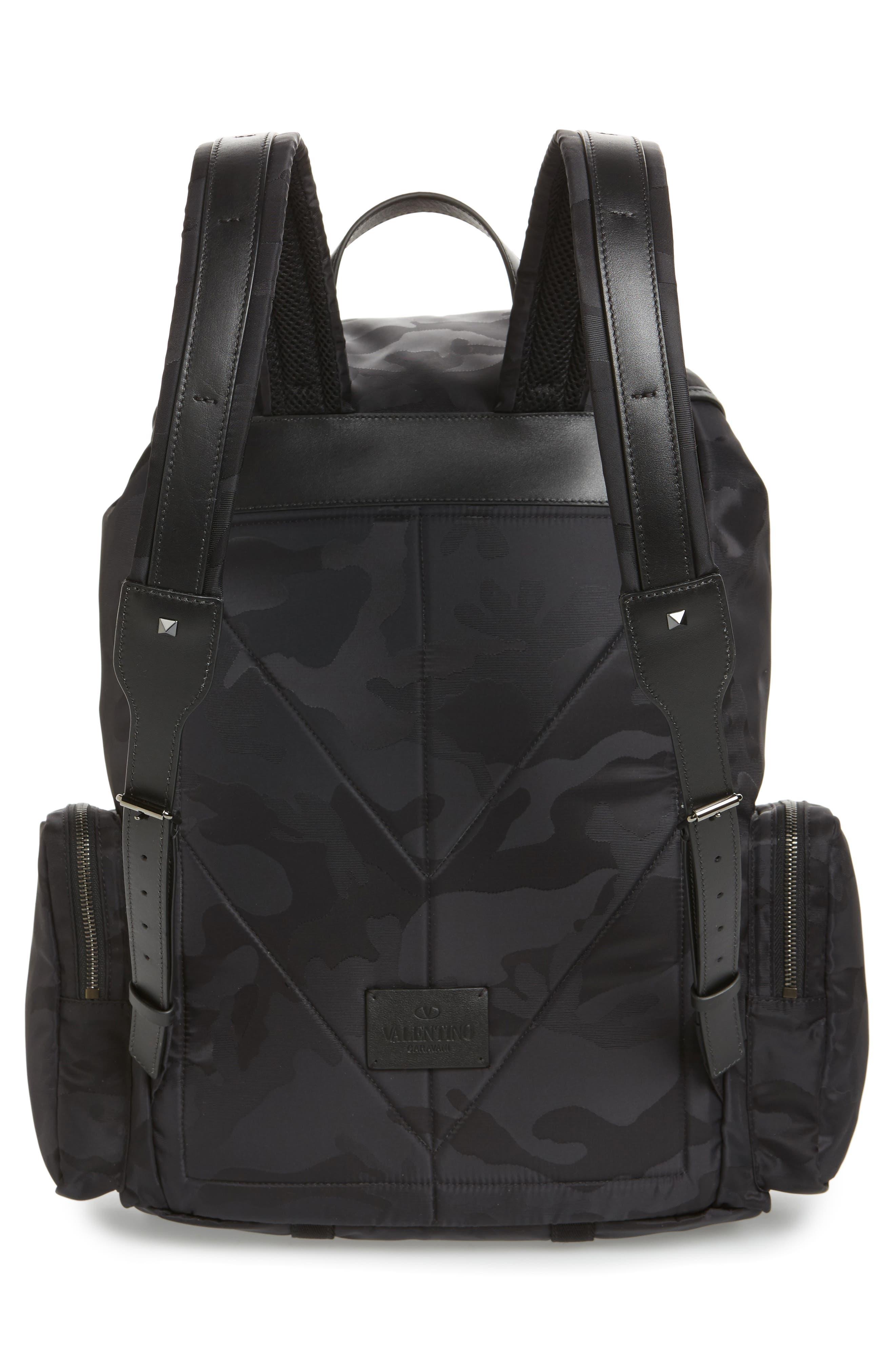 Camo Backpack,                             Alternate thumbnail 3, color,                             Black