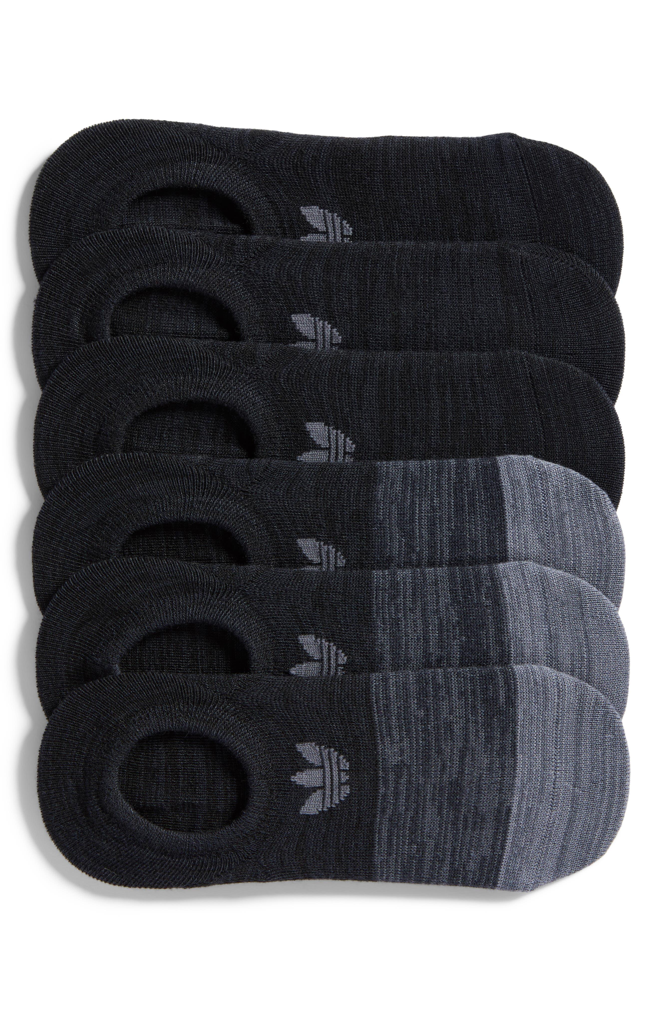 Main Image - adidas Block Space Dye 6-Pack Super No-Show Socks