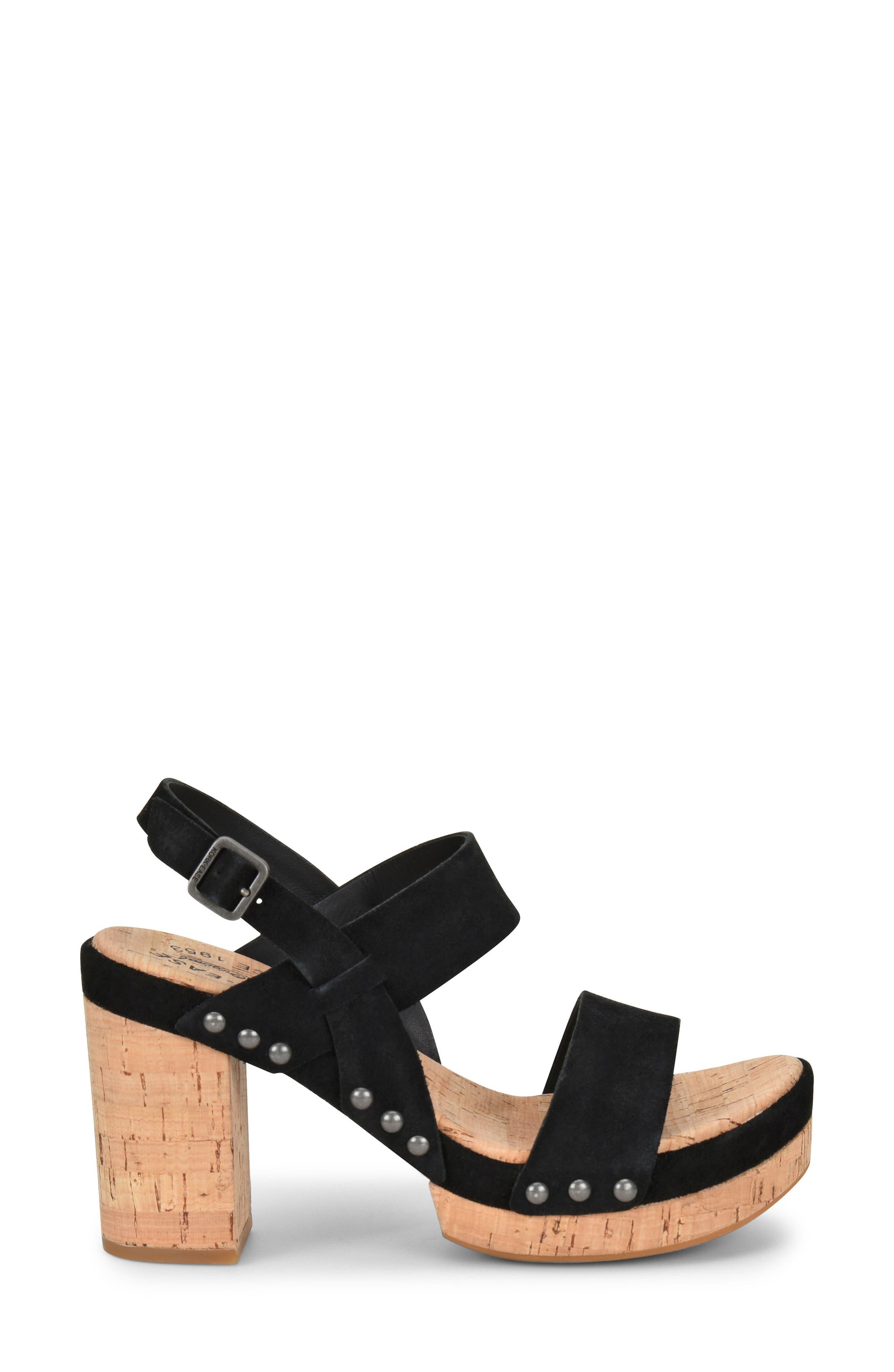 Palmdale Platform Sandal,                             Alternate thumbnail 3, color,                             Black Suede