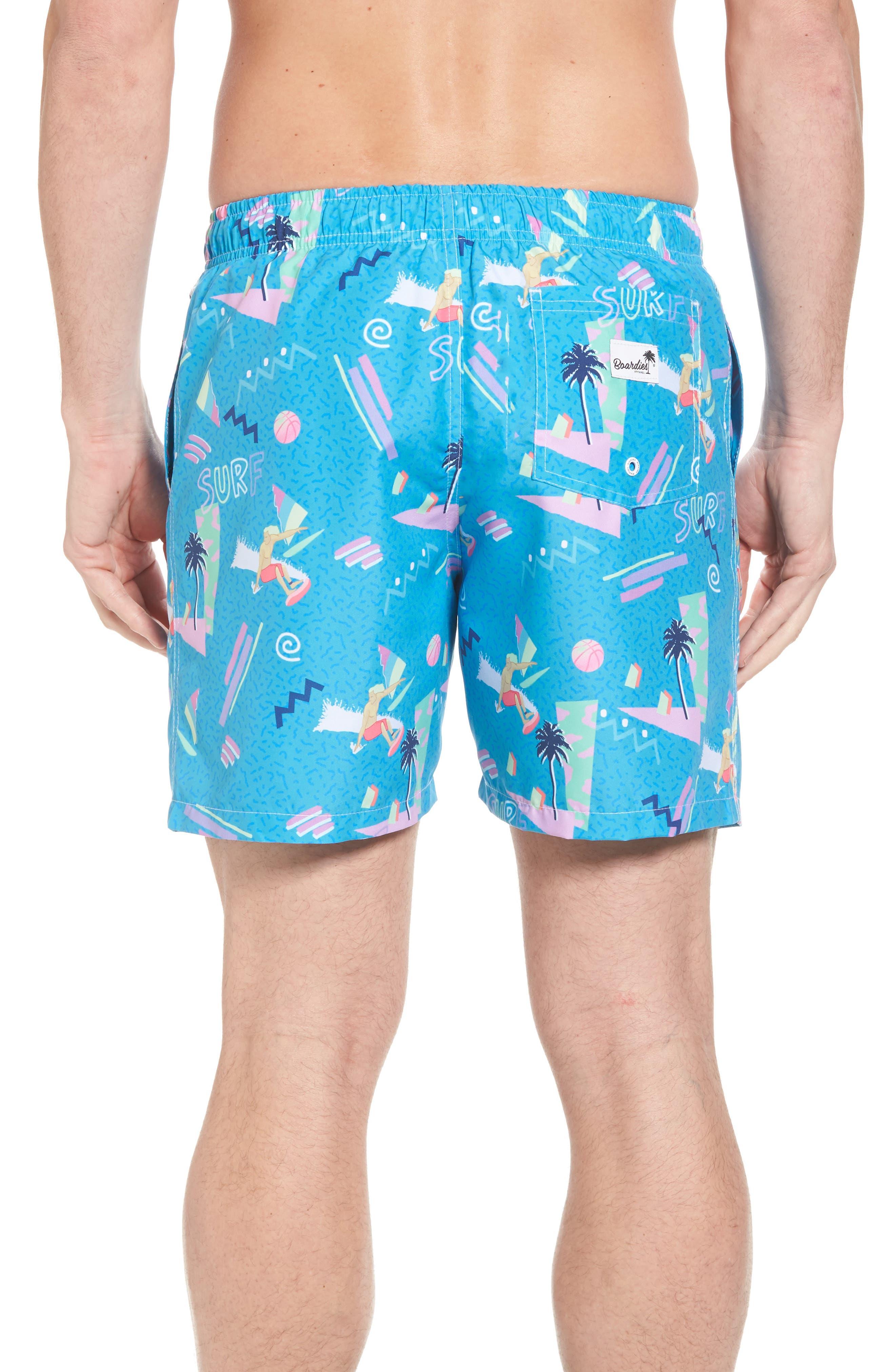 x Yoko Honda Print Swim Shorts,                             Alternate thumbnail 2, color,                             Blue