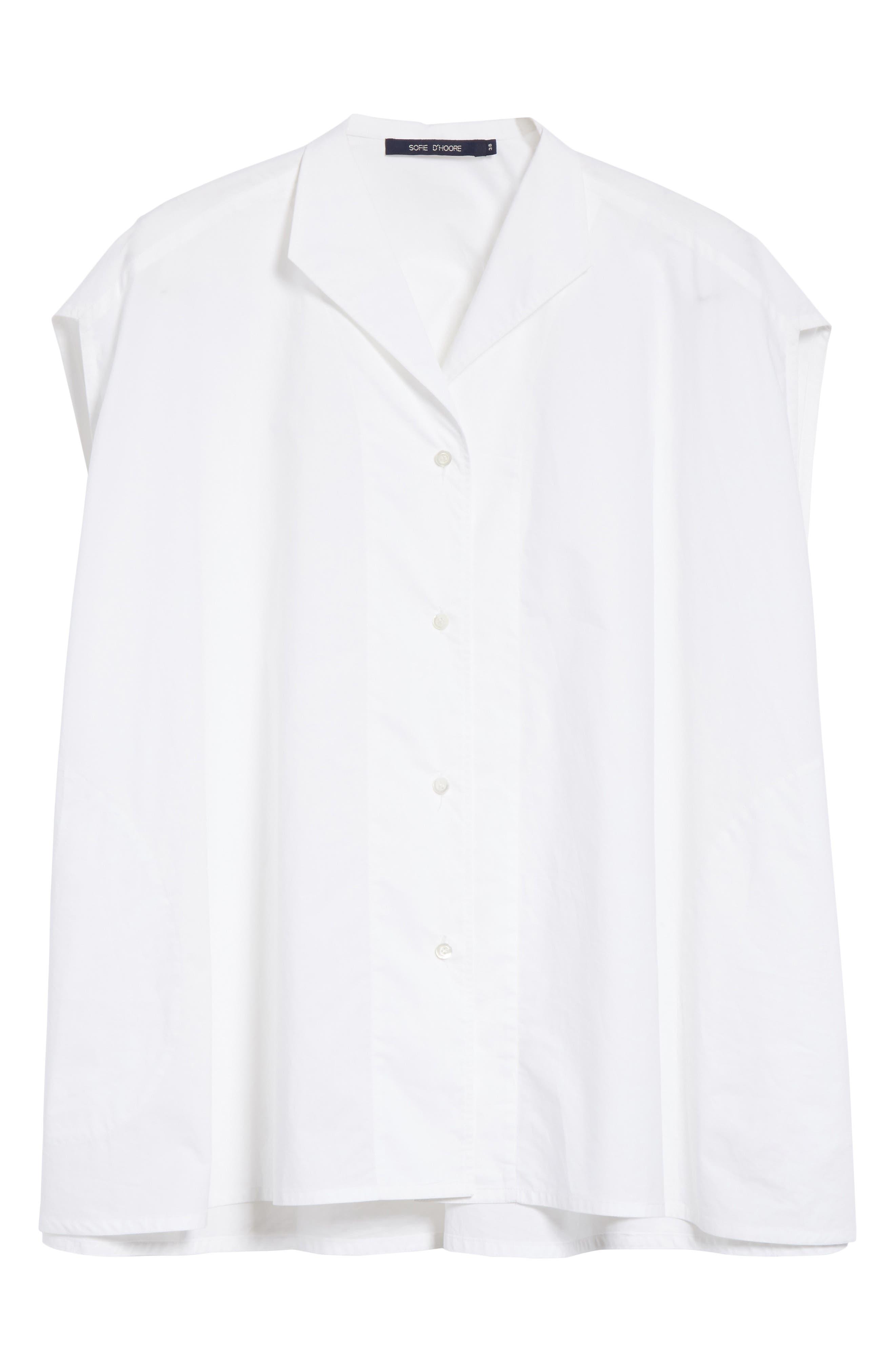 Alternate Image 6  - Sofie D'Hoore Sleeveless Cotton Blouse