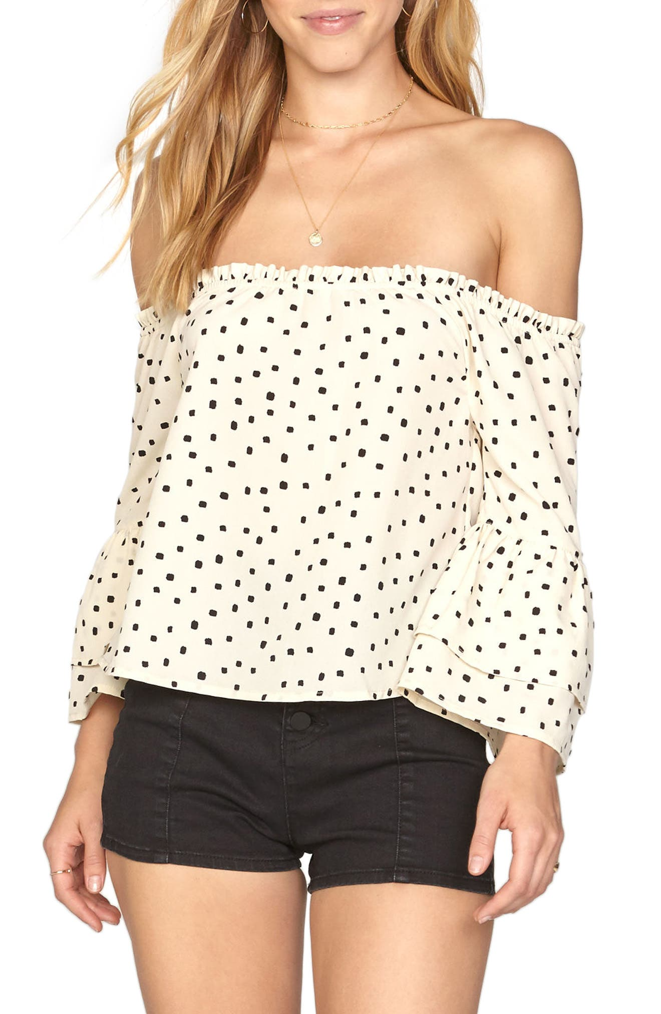 Amuse Society Chapelle Off the Shoulder Top