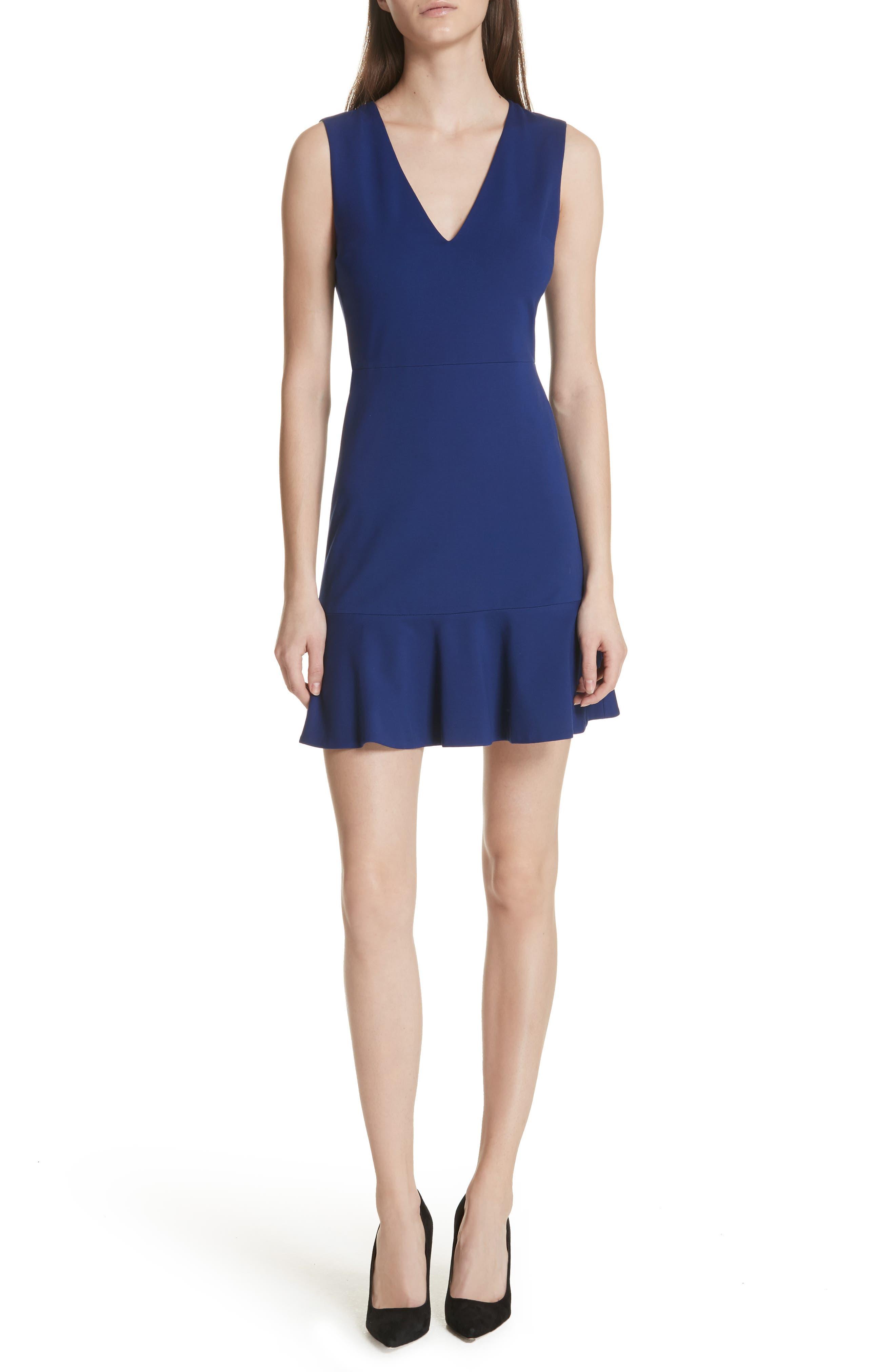 Main Image - Alice + Olivia Onella Peplum Hem Fit & Flare Dress