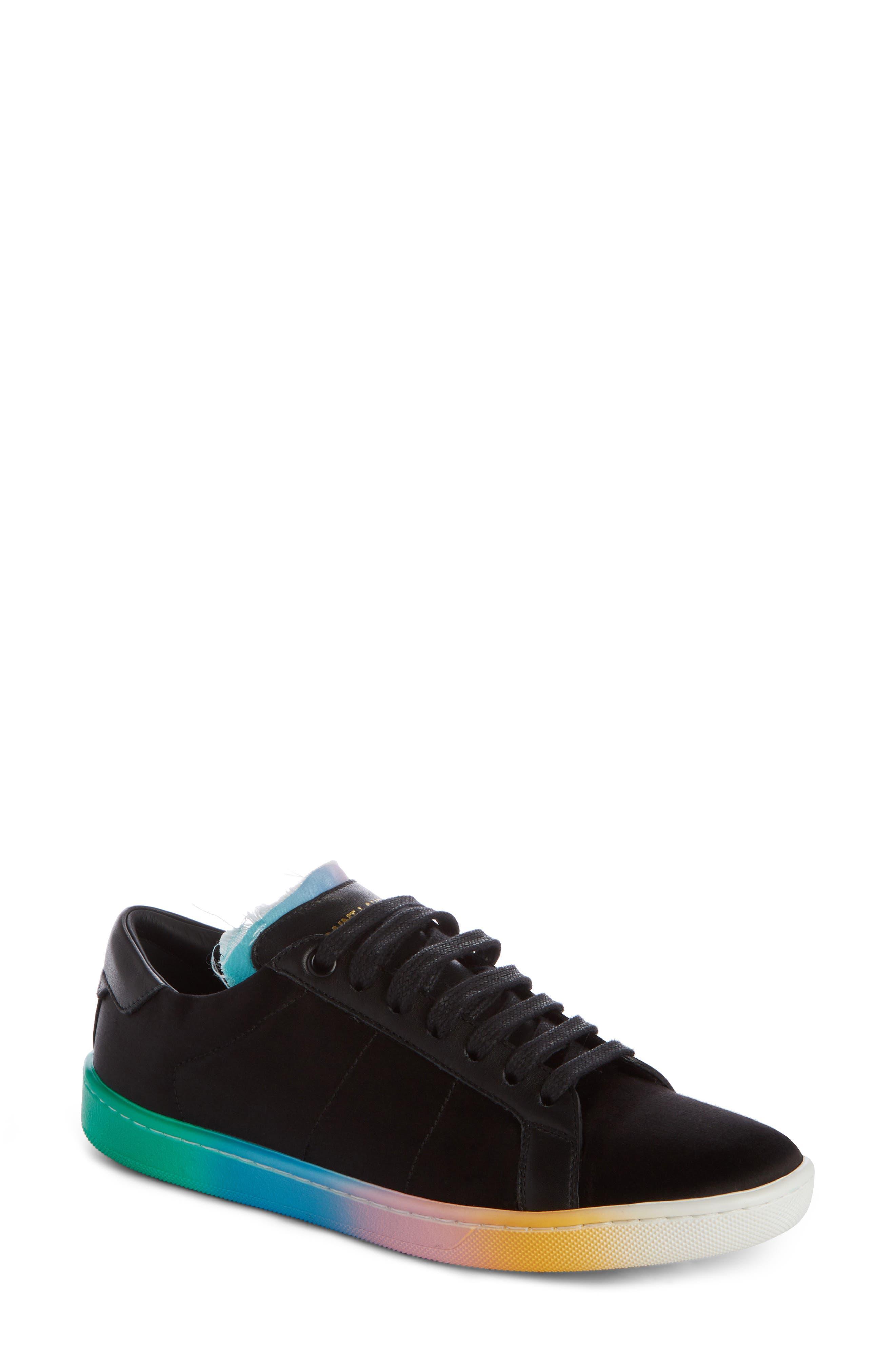 Court Classic Rainbow Sole Sneaker,                         Main,                         color, Black Multi
